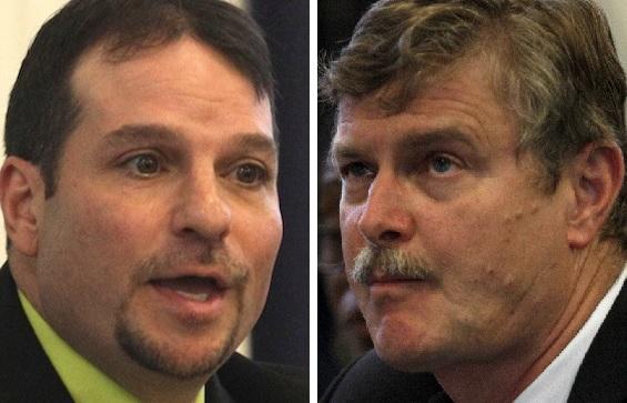 Councilman Glenn A. Choolokian, left, and Mayor Paul A. Dyster. (Buffalo News file photos)