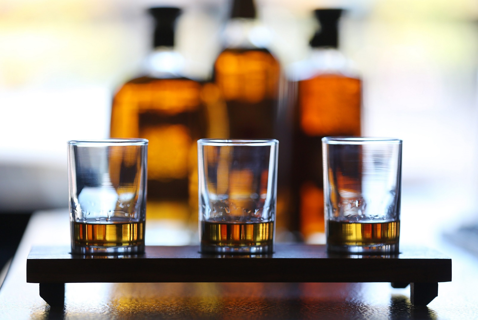 A Toutant whiskey trio is called Run for the Roses, which comprises Four Roses Yellow Label, Four Roses Small Batch and Four Roses Single Barrel. (Sharon Cantillon/Buffalo News)