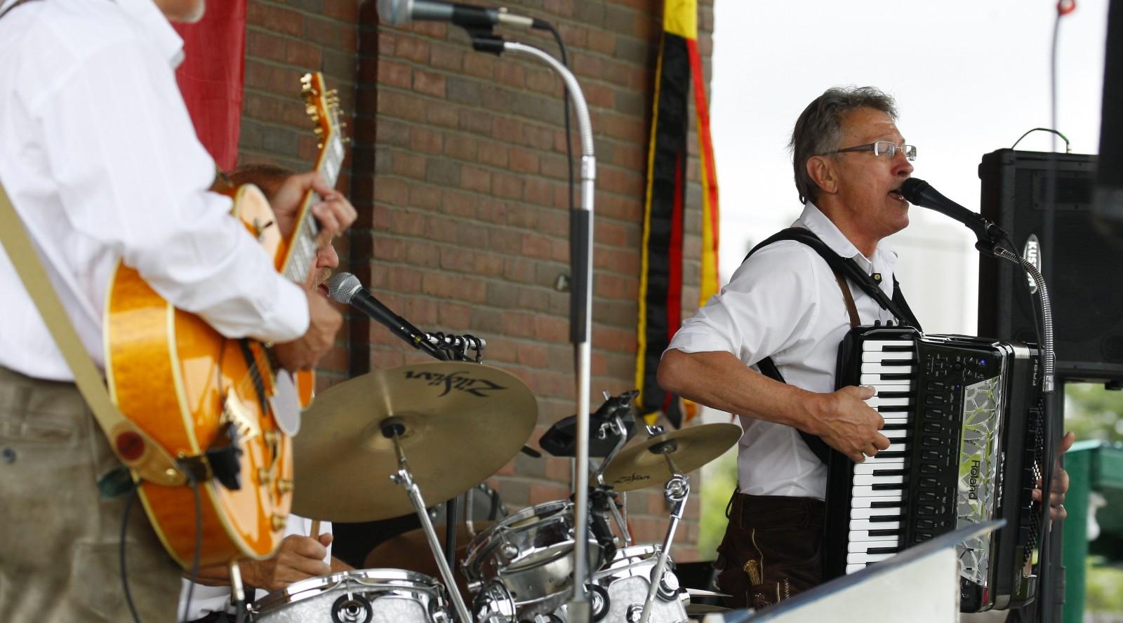 The Auslanders will perform at Oktoberfest at RiverWorks on Saturday.