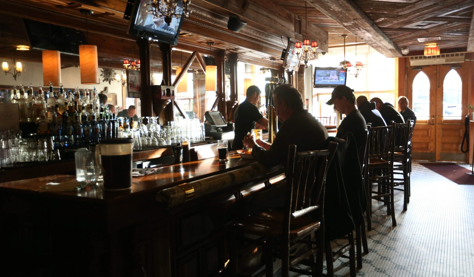 Ellicottville Brewing Company on Monroe Street in Ellicottville has a warm, friendly vibe. Besides its beer, it offers a full bar and plenty of food options. (Sharon Cantillon/Buffalo News file photo)