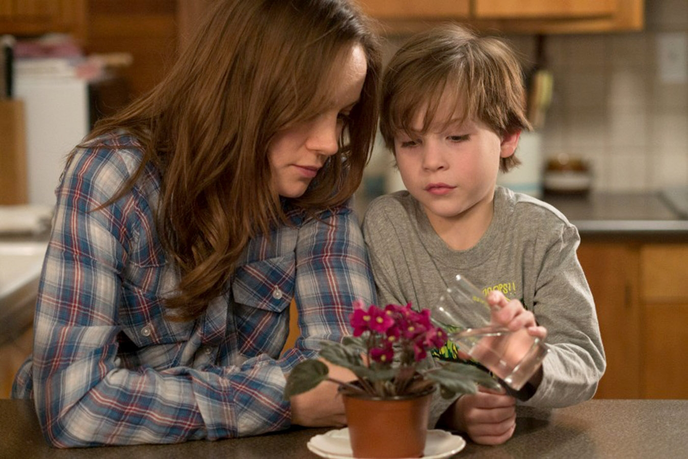 "Brie Larson, left, and Jacob Tremblay star in ""Room."""
