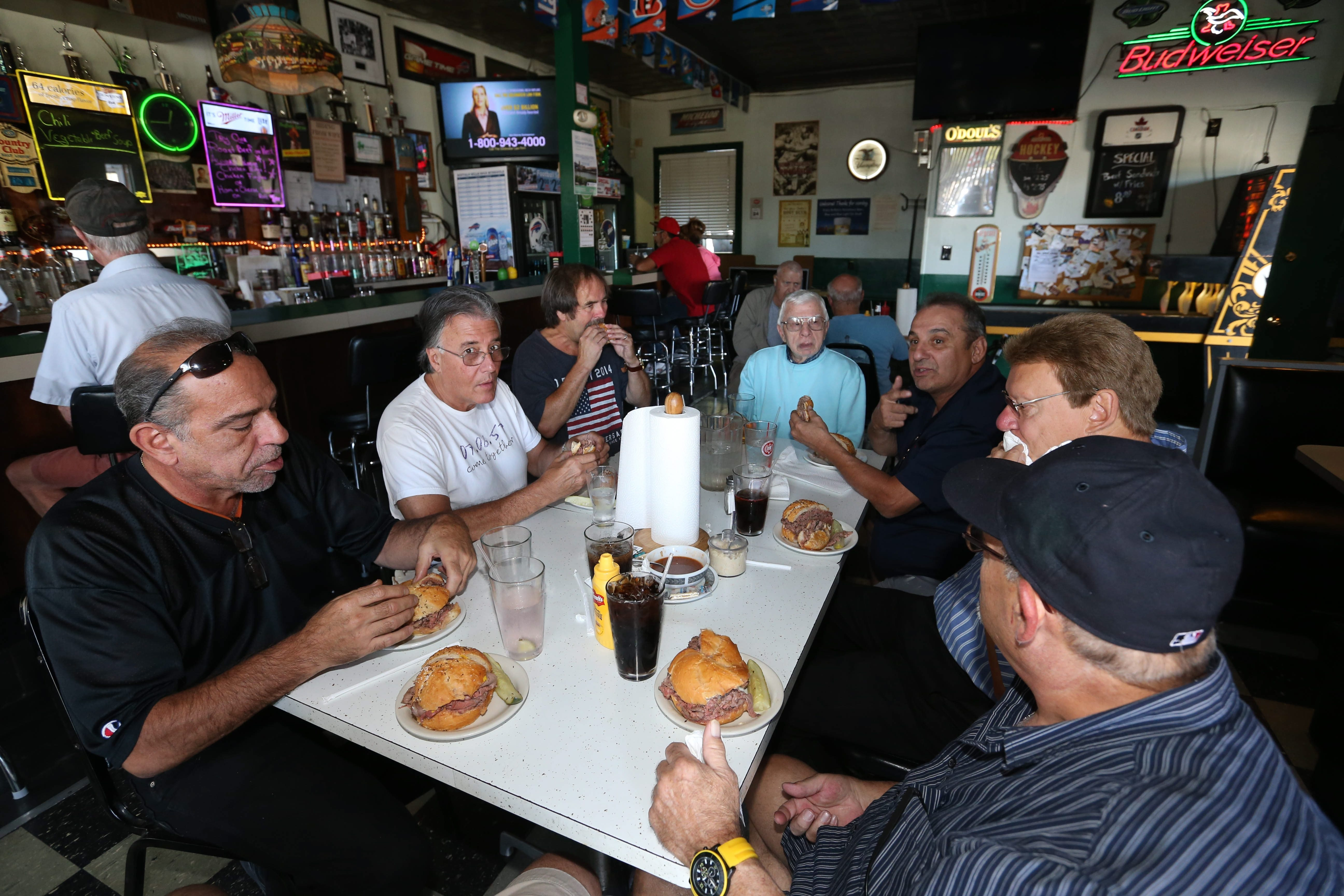 This group of friends that gets together every Thursday for lunch recently chose Kelly's Korner, 2526 Delaware Ave. See a photo gallery at buffalonews.com.