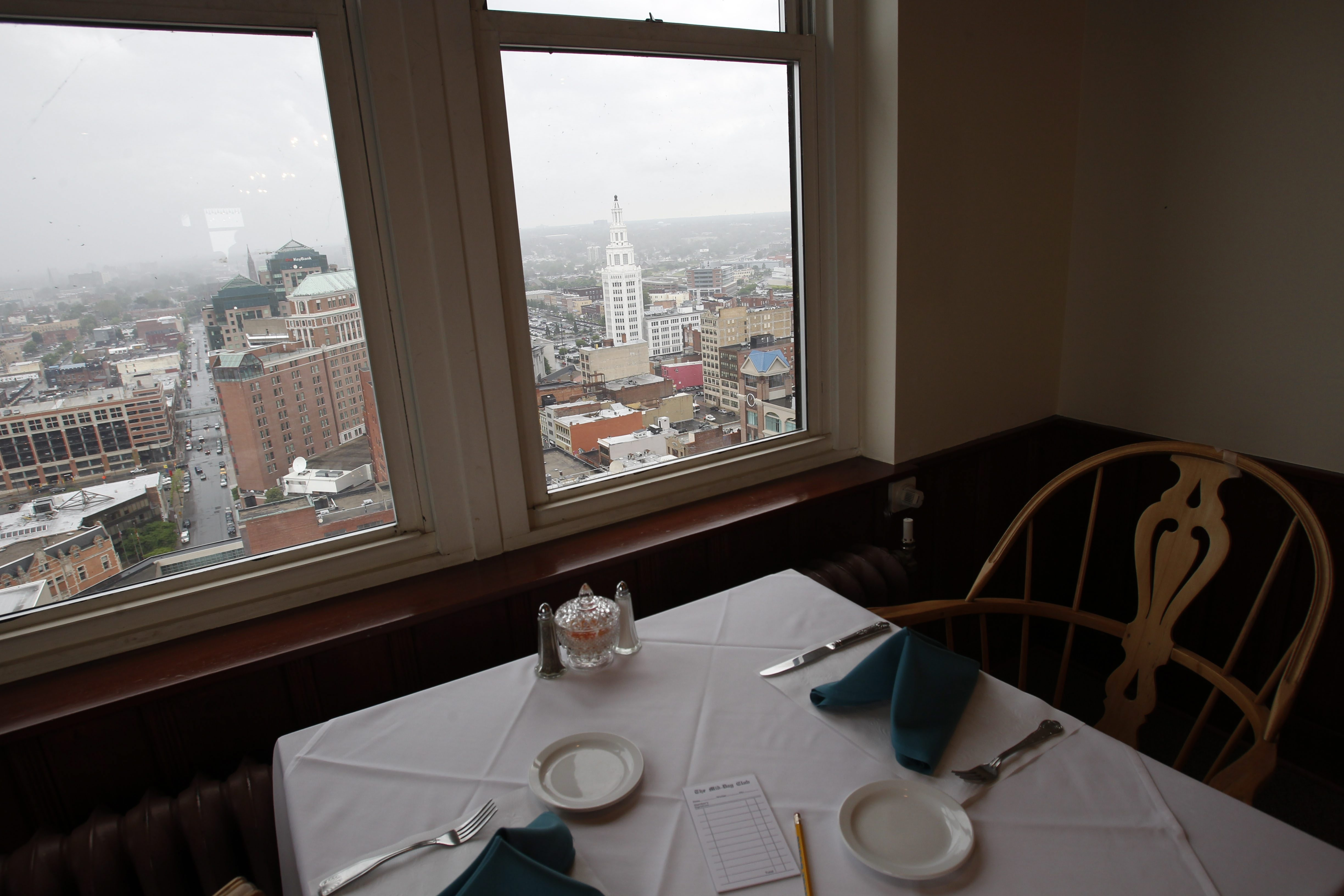 The Mid-Day Club, a lunchtime restaurant on the 21st floor of the Liberty Building, was founded in 1936.  The number of members has dwindled over the years and now stands at about 75.  The club is trying to recruit new members who enjoy what they say is excellent food with a spectacular view of downtown Buffalo.