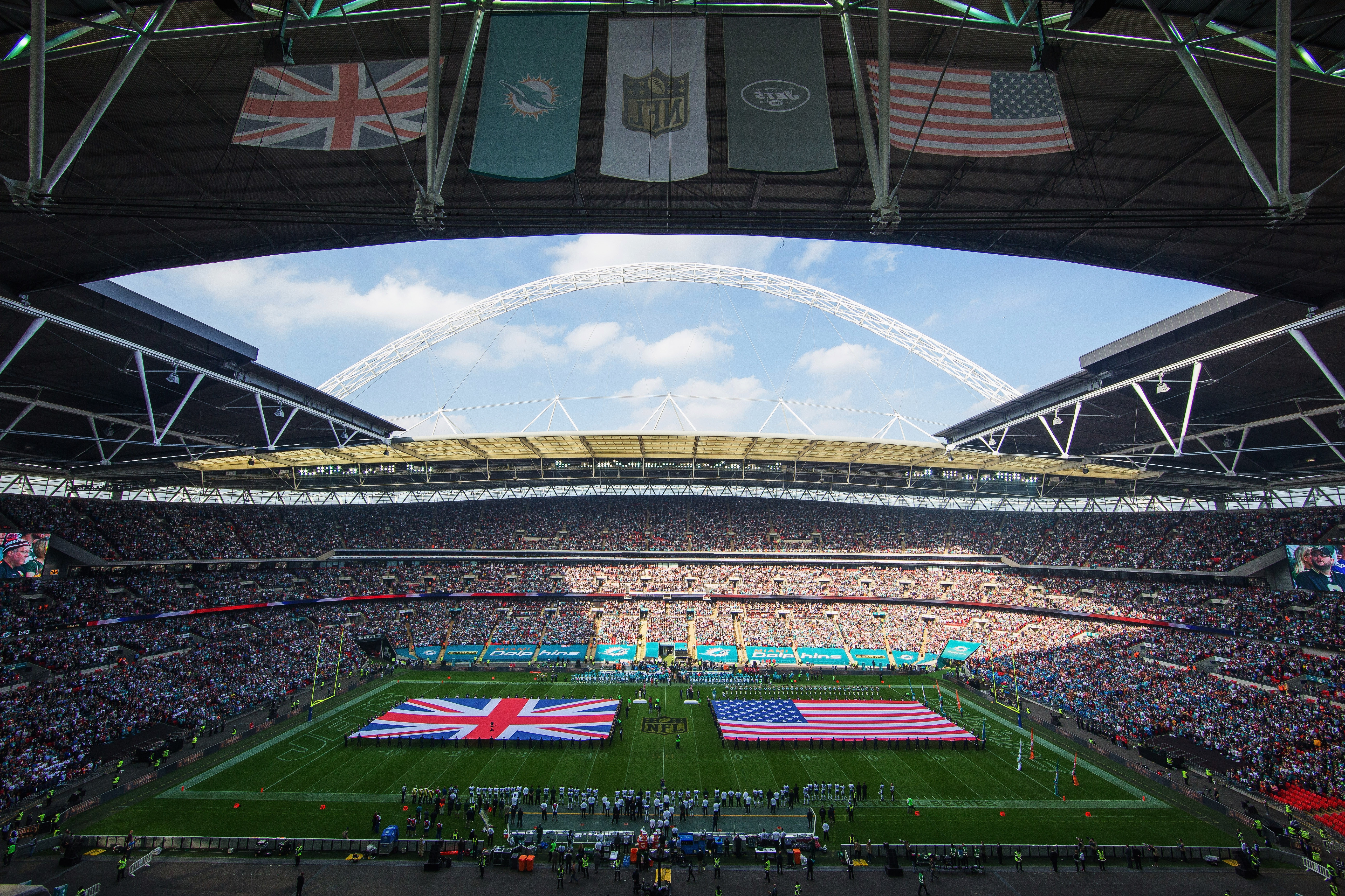 This file photo shows Wembley Stadium in London, where the Bills will play the Jaguars on Sunday.  (Getty Images)