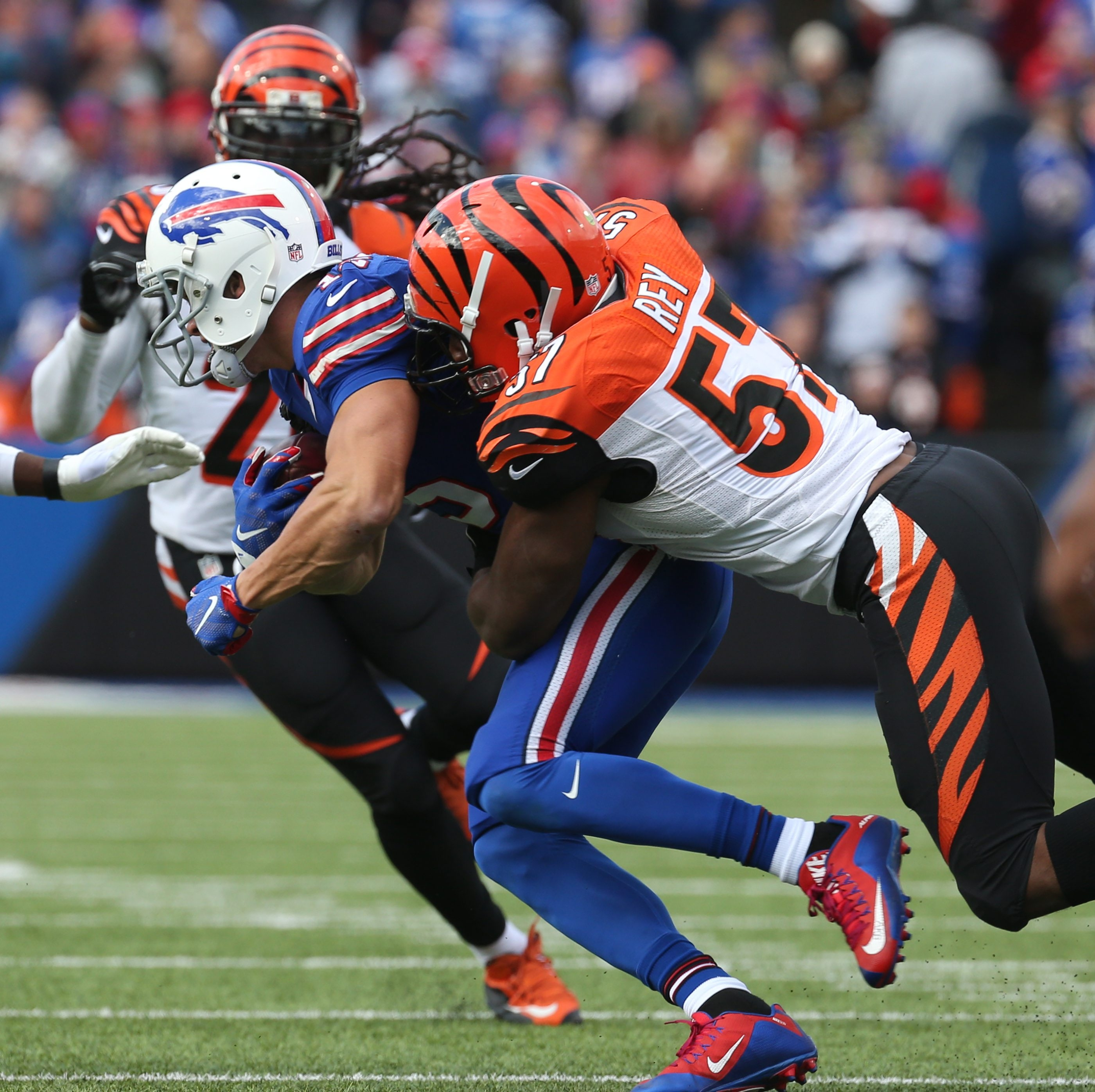 """Bills receiver Chris Hogan says he's ready """"to go out there with all the confidence in the world and try to make plays for this team."""""""