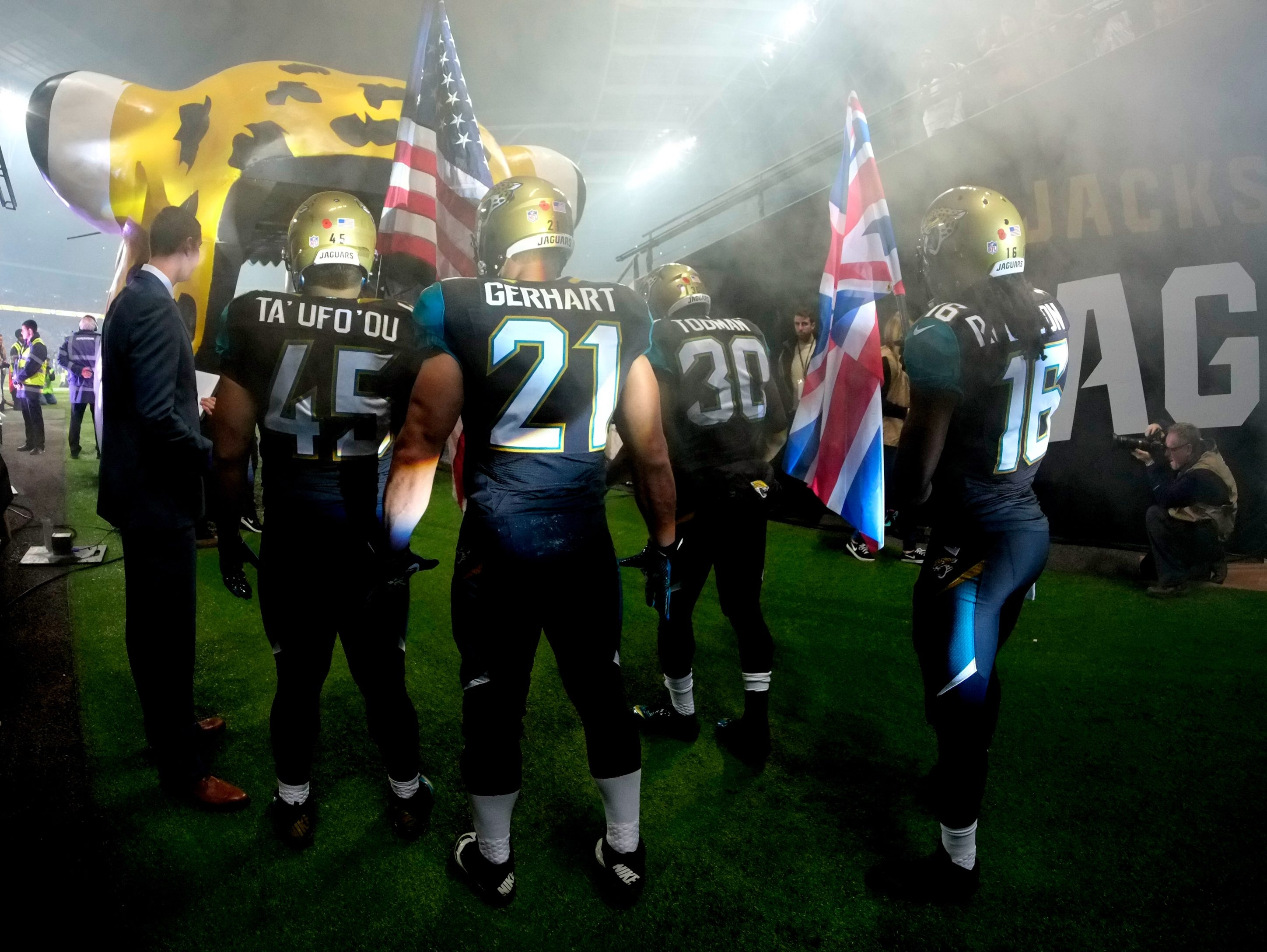 The Jacksonville Jaguars, above at last year's London game against Dallas, will be making their third appearance in the NFL series Sunday.