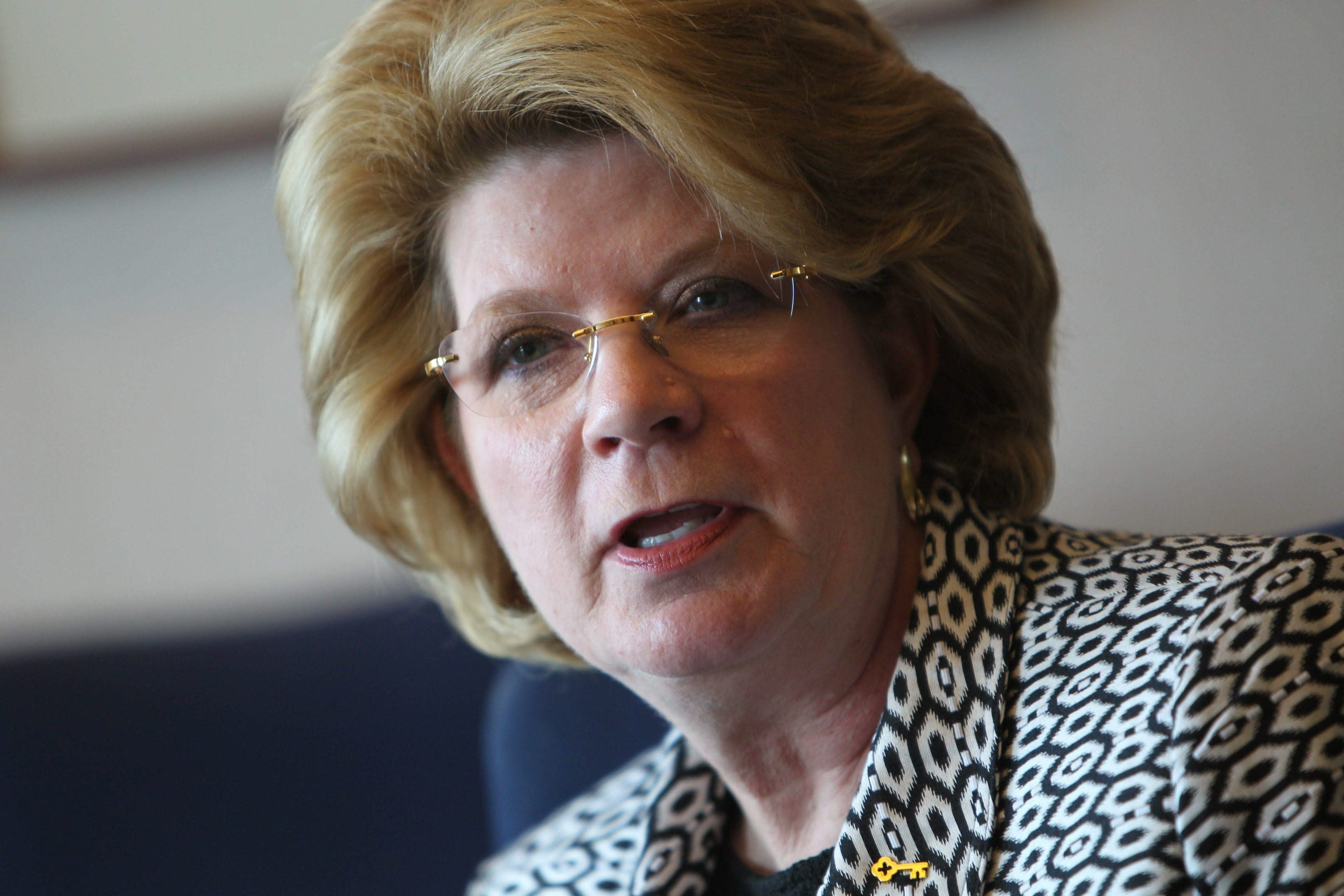 KeyCorp Chairman Beth Mooney is now the first woman to lead one of the nation's 20 largest banks.