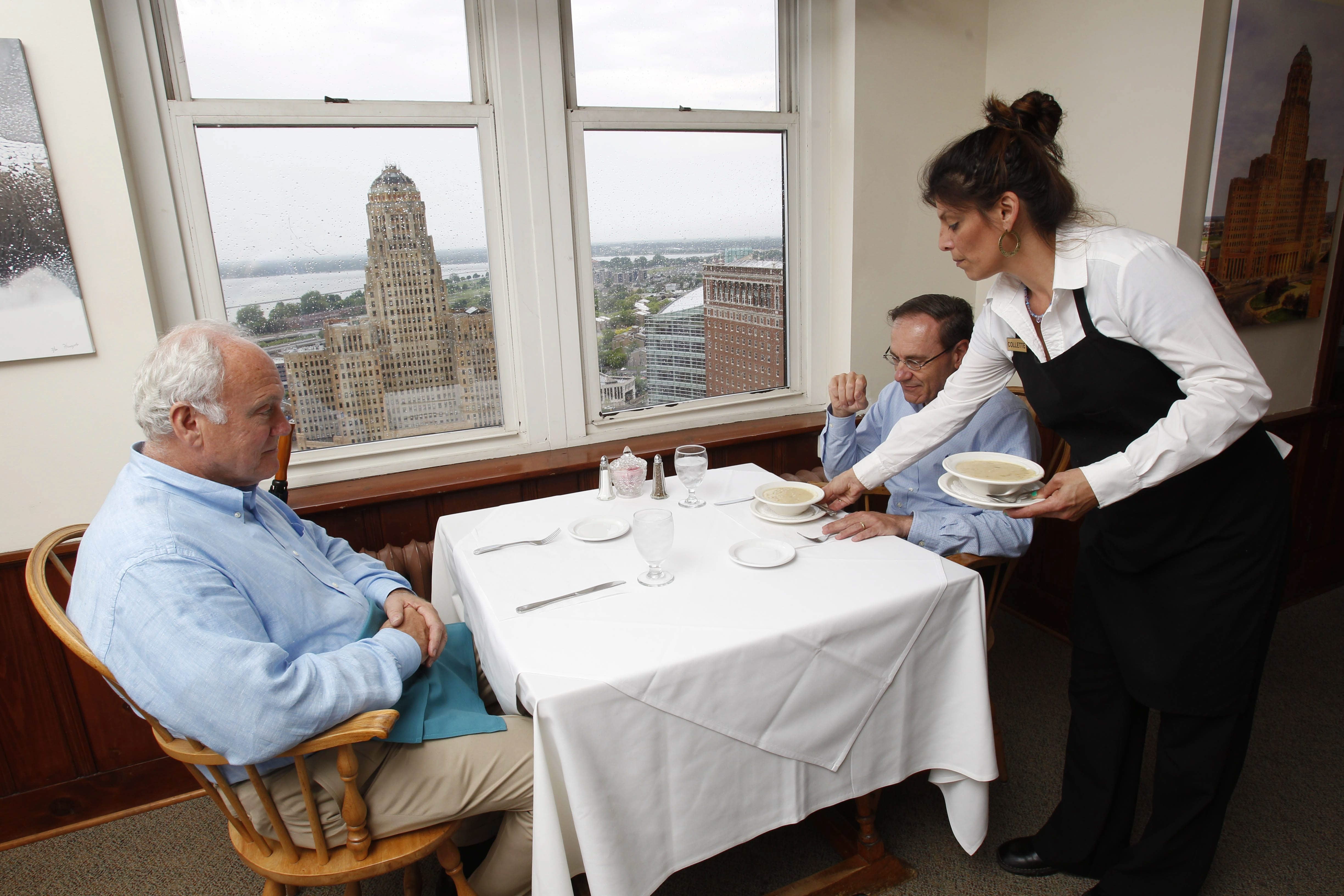 The Mid-Day Club, a lunchtime restaurant on the 21st floor of the Liberty Building, was founded in 1936. As its membership has dwindled over the years, the club, known for its great food and fantastic views of downtown, is trying to recruit new members.