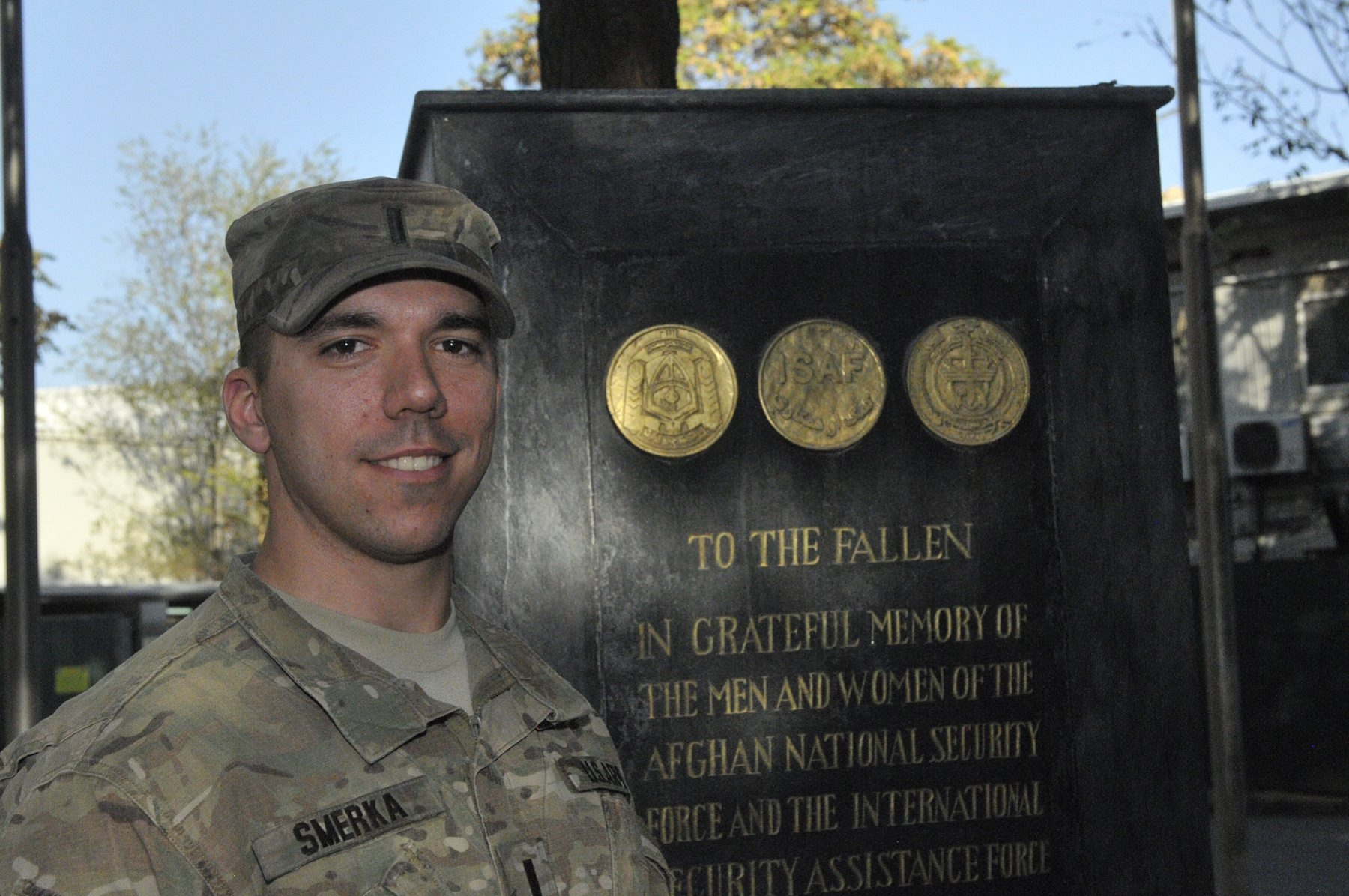 Army 1st Lt. Mark J. Smerka, a Canisius College grad, leads a platoon responsible for protecting U.S. State Department employees and civilian contractors traveling around Kabul.