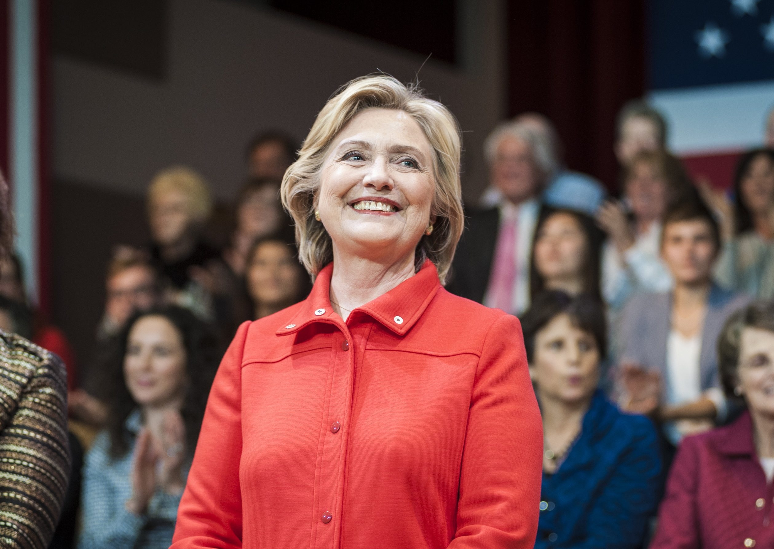 Democratic presidential hopeful Hillary Rodham Clinton campaigns at Keene State College in Keene, N.H., on Oct. 16, 2015. (New York Times photo)
