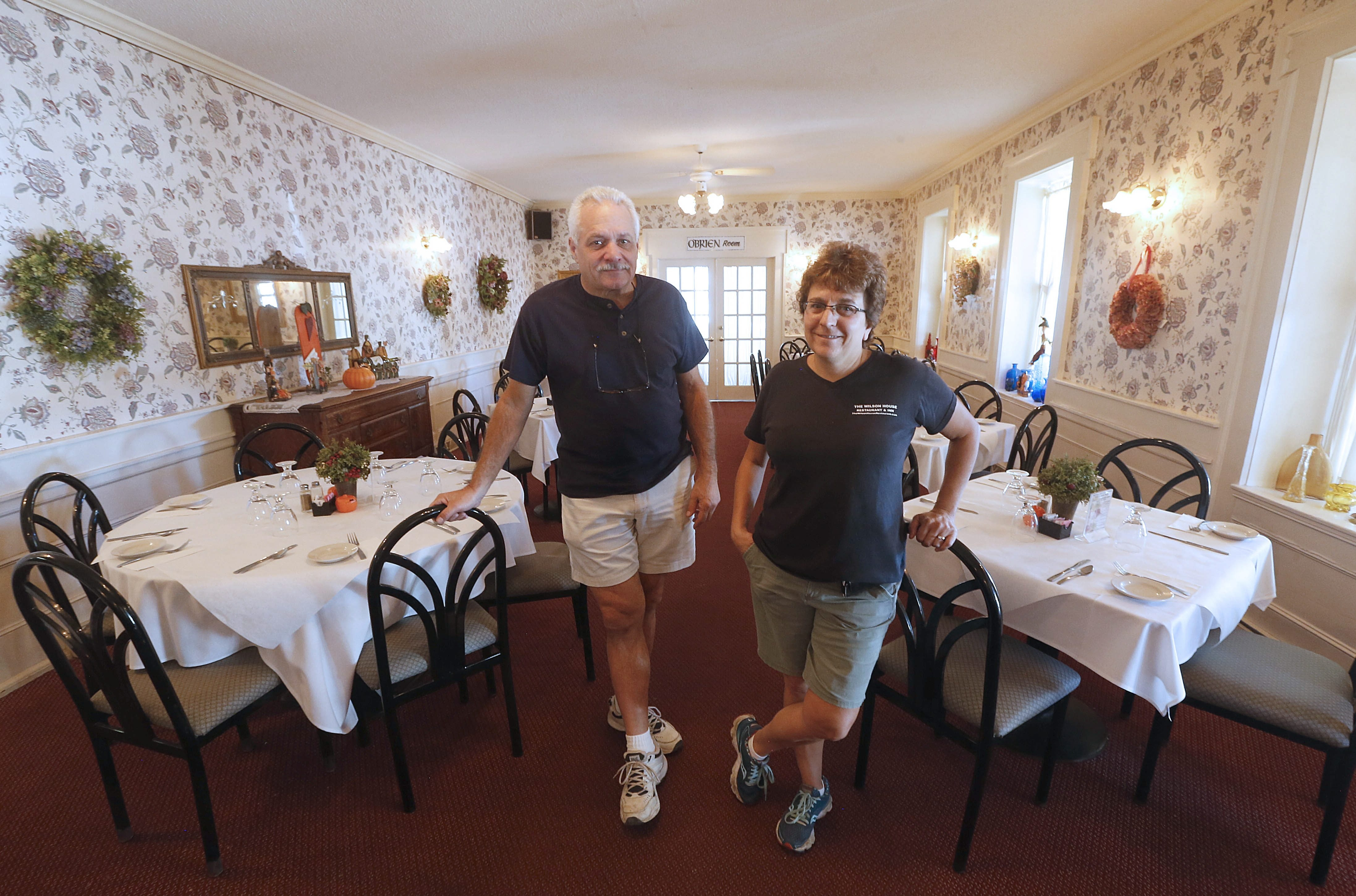 John Cracchiola and Caren Ashkar have operated the Wilson House Restaurant and Inn for a decade, but a planned sale of the building and changing business climate have led them to decide to close the restaurant.