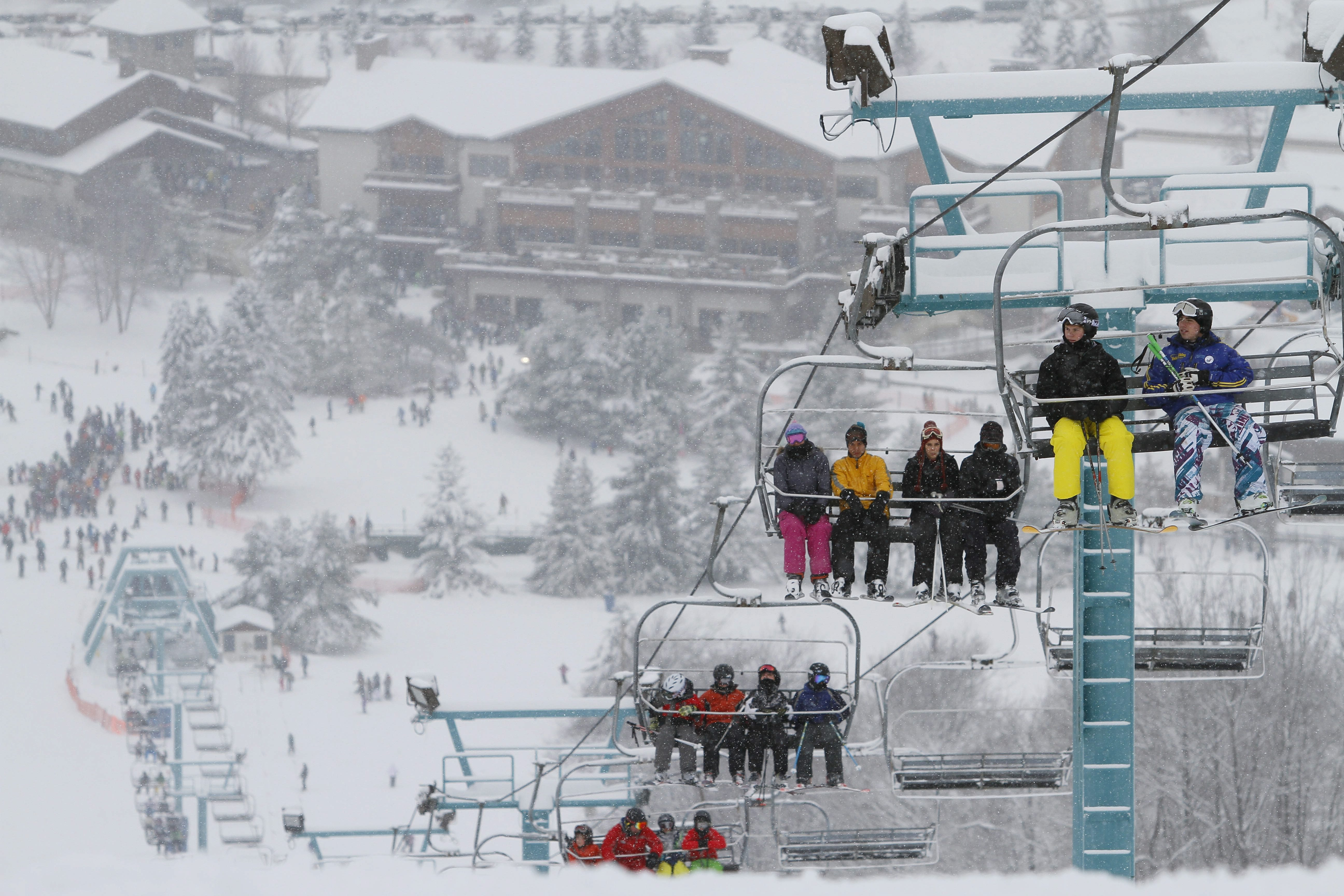 """Holiday Valley's """"quad"""" lifts are one of the features earning the Ellicottville resort a high ranking in Ski Magazine, along with accessibility, snow, family programs, lodging and the après-ski scene."""