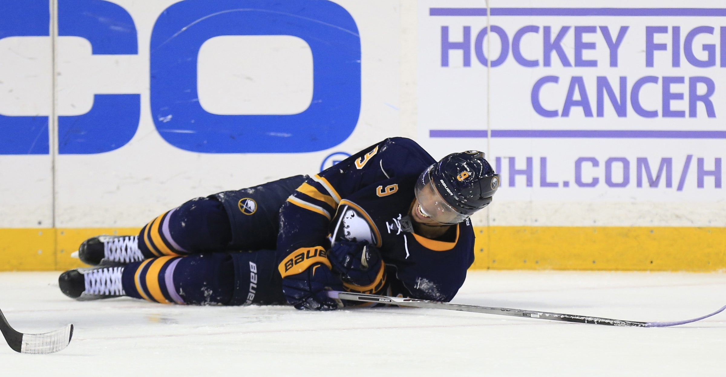 Sabres forward Evander Kane will miss four to six weeks with an injury to a ligament in his left knee. He will not need surgery.