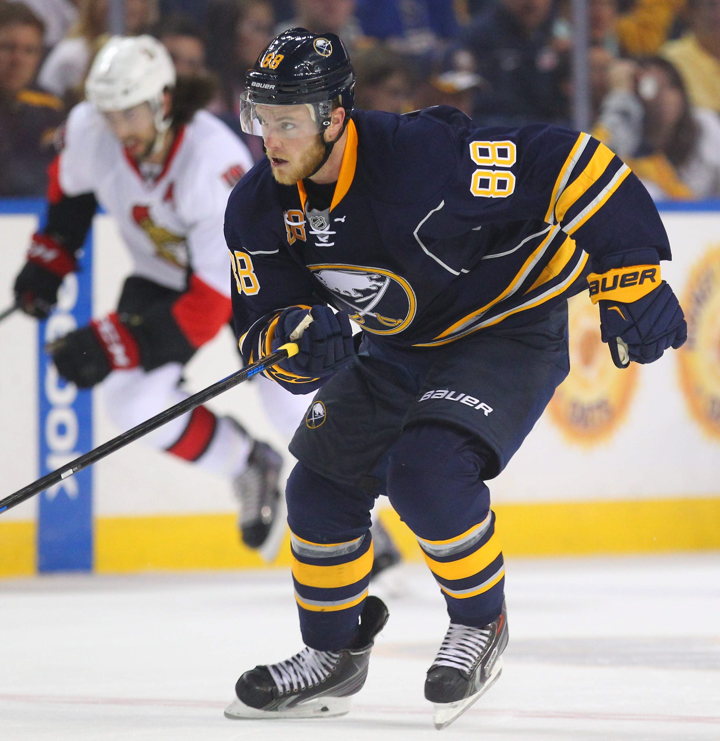 Due to back trouble, Jamie McGinn had not played in a hockey game for 10 months when he arrived at Sabres training camp.
