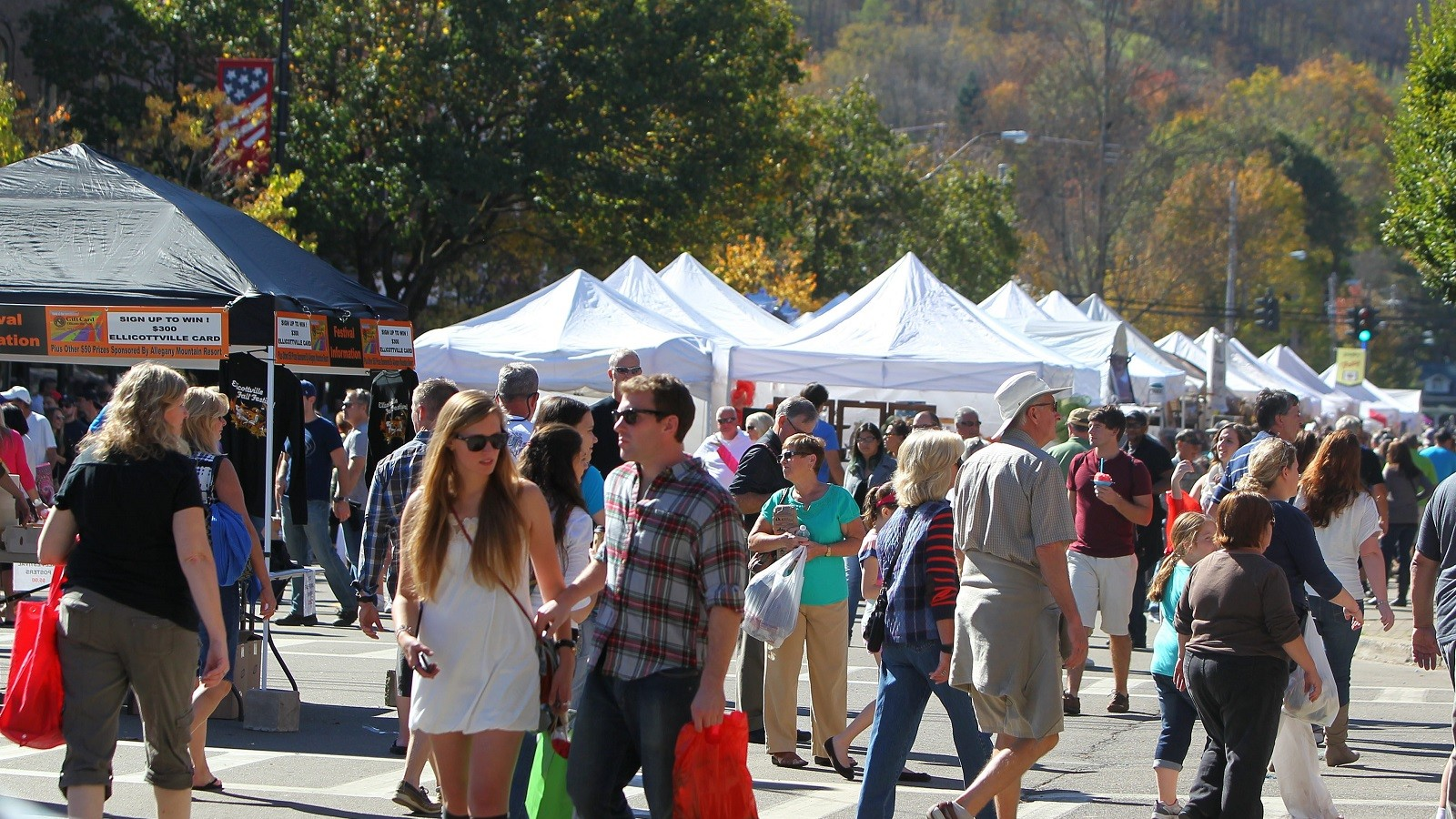 Thousands converge on Ellicottville for this weekend's Fall Festival. Here's what you should know before you go. (Mark Mulville/Buffalo News file photo)
