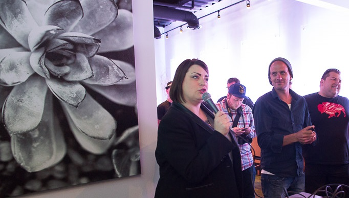 Christa Glennie Seychew, left, holding mic, is the co-founder of Industry Night and founder of Nickel City Chef. (Chuck Alaimo/Special to The News)