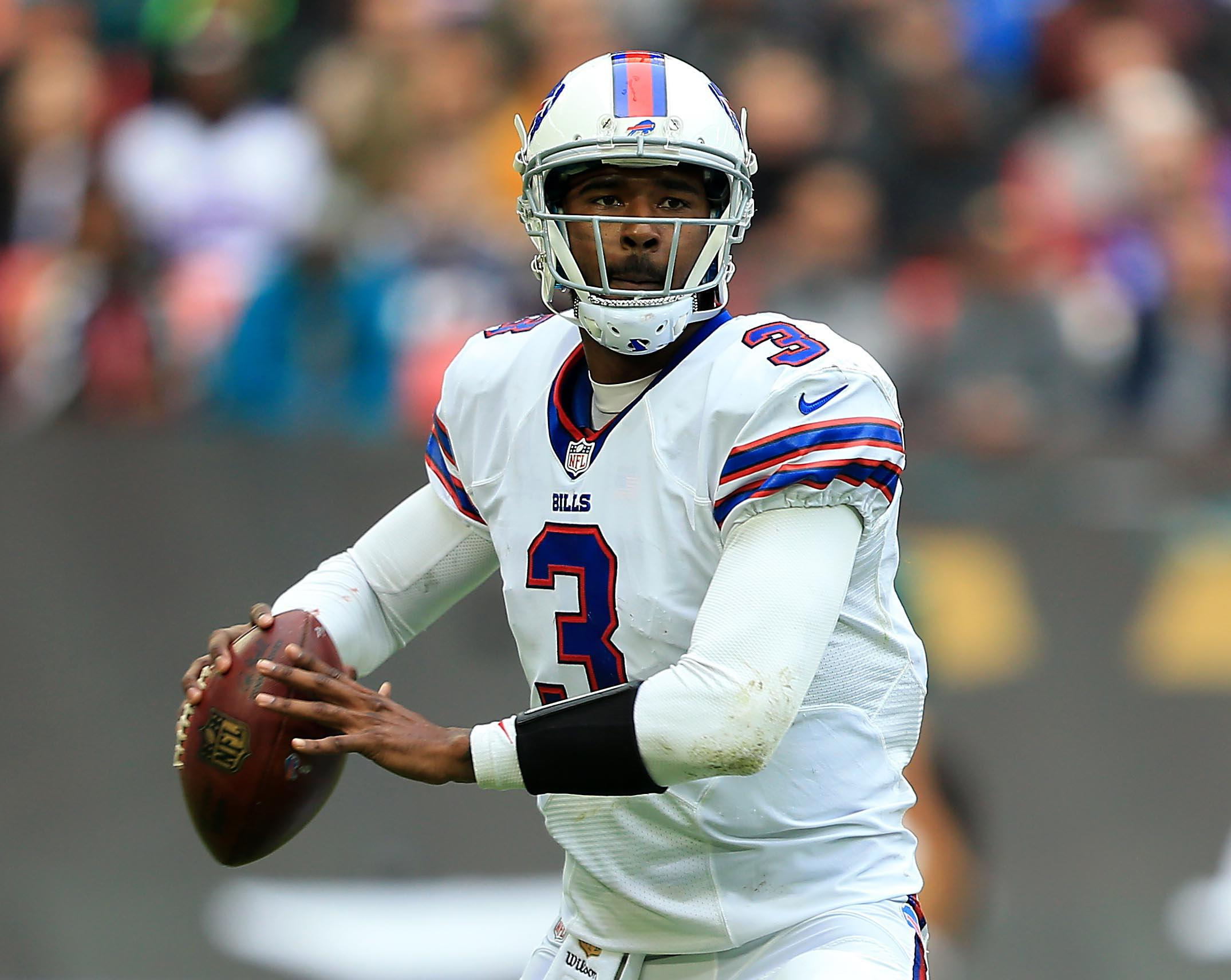 Rex Ryan said he didn't consider benching EJ Manuel during Sunday's loss to the Jaguars in London. (Getty Images)