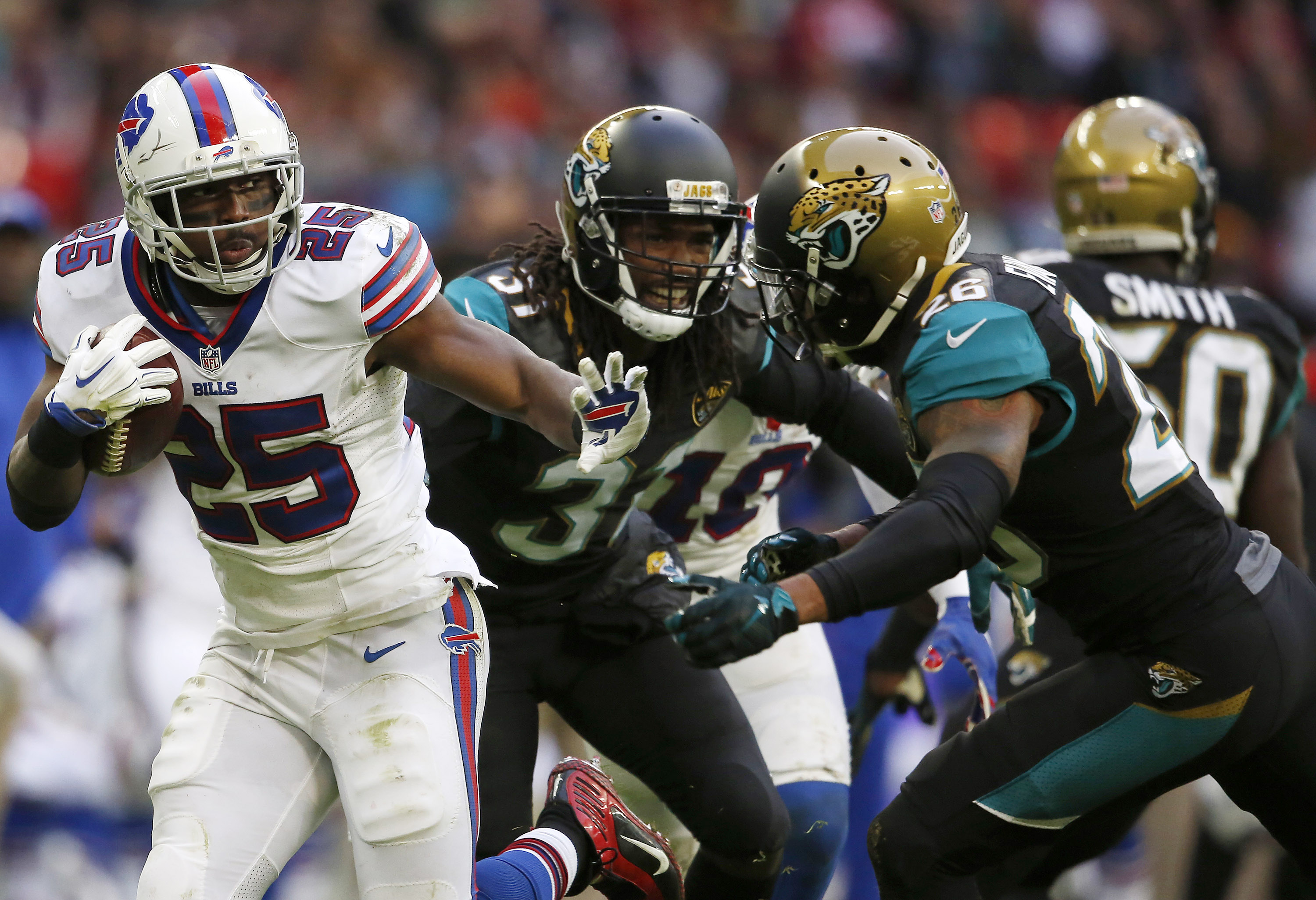 LeSean McCoy had some great runs against the Jaguars. (Getty Images)