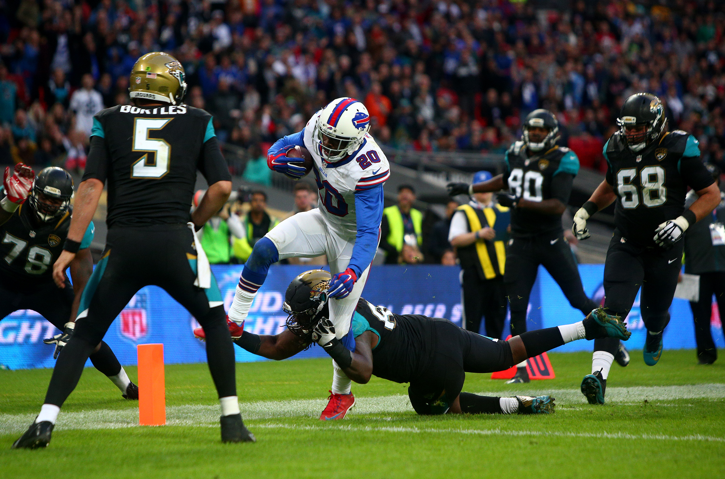 Corey Graham had an interception return for a touchdown in the Bills' 2015 loss against Jacksonville at London. (Getty Images)