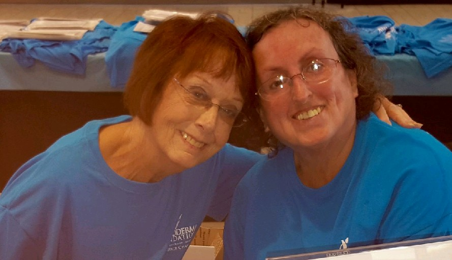 Betzi Sheff, left, of Lancaster, and Kathy Leutze  of East Amherst have joined forces to help give hope and encouragement to those with scleroderma.