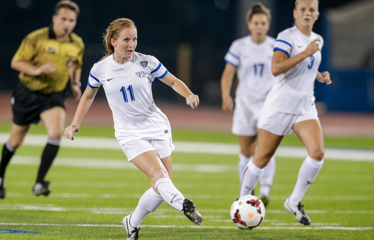 Now-graduated forward Kassidy Kidd scored six goals and added six assists last year. (UB Athletics)