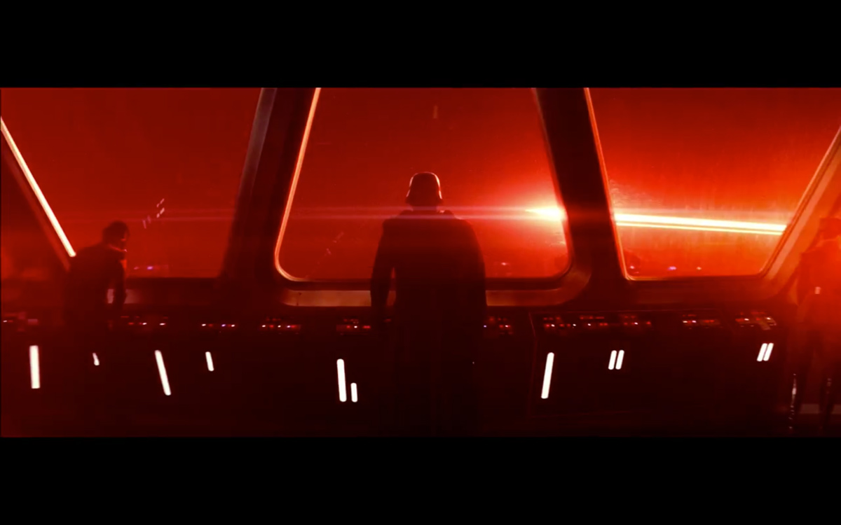 "Kylo Ren, the commander of the First Order, is seen leading his troops in the new trailer for ""Star Wars: The Force Awakens."""