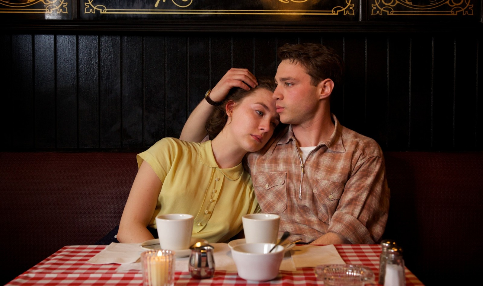 Saorise Ronan, left, and Emory Cohen star in John Crowley's powerful story 'Brooklyn.'