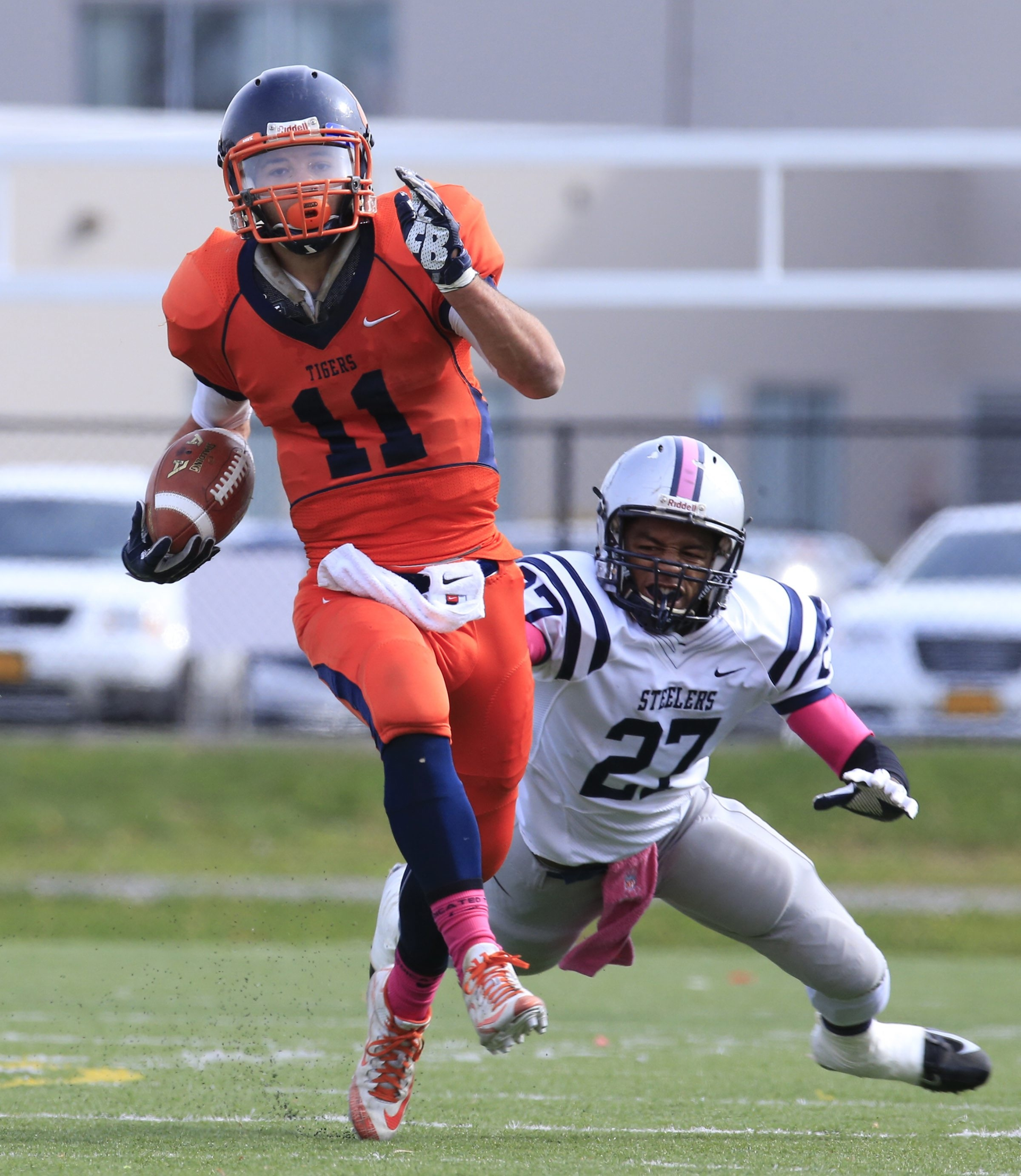 Bennett'a Isaiah McDuffie runs for a touchdown against Lackawanna   at All-High Stadium  on Saturday, Oct. 31, 2015.  (Harry Scull Jr./Buffalo News)