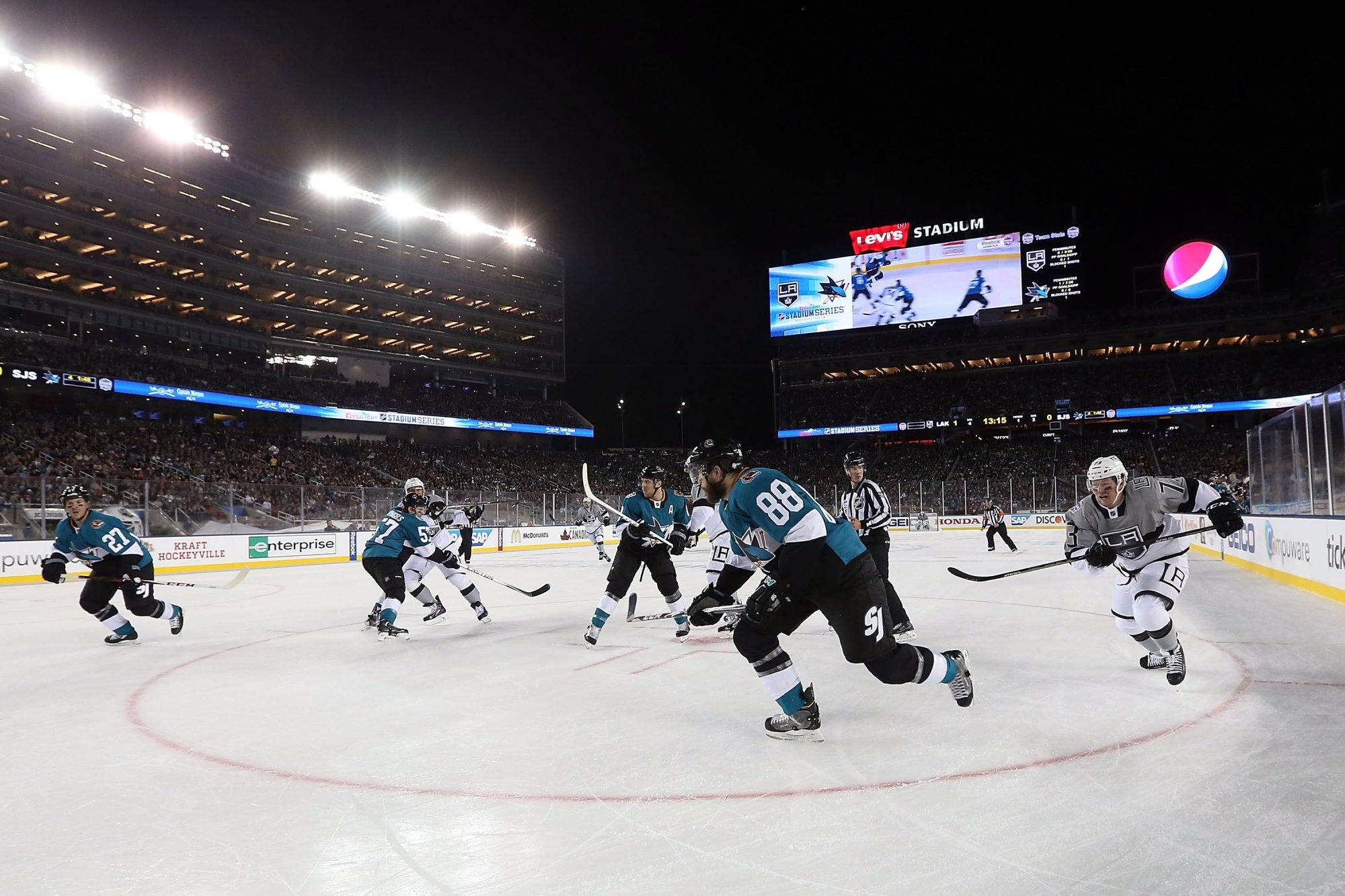 Stadium Series games like this one last season between the Los Angeles Kings and San Jose Sharks at Levi's Stadium in Santa Clara, Calif., have been boosted by the efforts of John Collins, who is departing his position as the NHL's chief operating officer.
