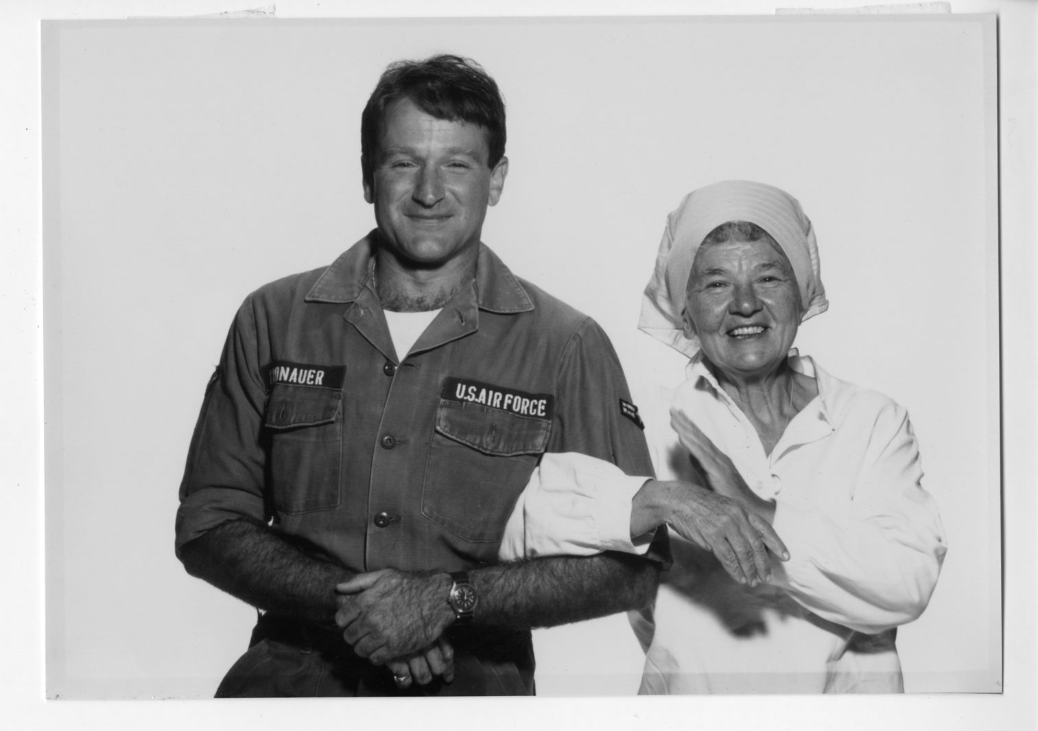 "At left, Robin Williams and Lillian Ross shortly after the release of the movie ""Good Morning, Vietnam"" in 1987. Ross' piece on Williams is included in ""Reporting Always: Writings from the New Yorker."" At right, Roger Angell, whose ""This Old Man – All in Pieces,"" is a collection of his classic New Yorker articles."
