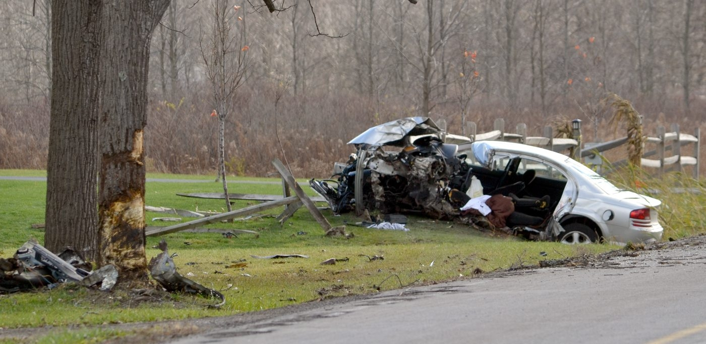 The scene of a serious accident on Tonawanda Creek Road on Nov. 22.