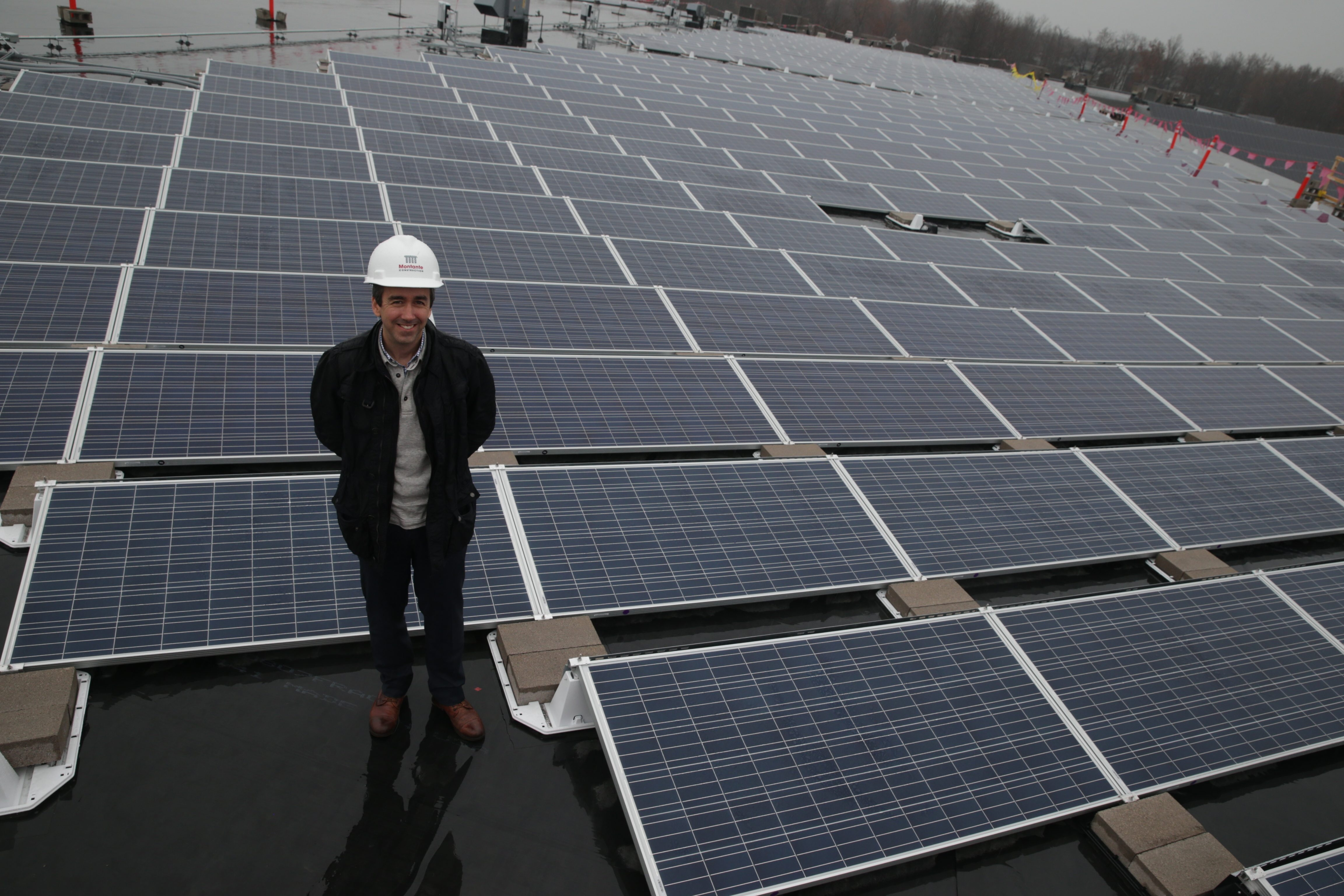 Daniel Montante is President and co-founder of Montante Solar at the FedEx distribution center's solar array  on Tuesday,  Nov. 10, 2015  in Town of Tonawanda, N.Y.(John Hickey/Buffalo News)