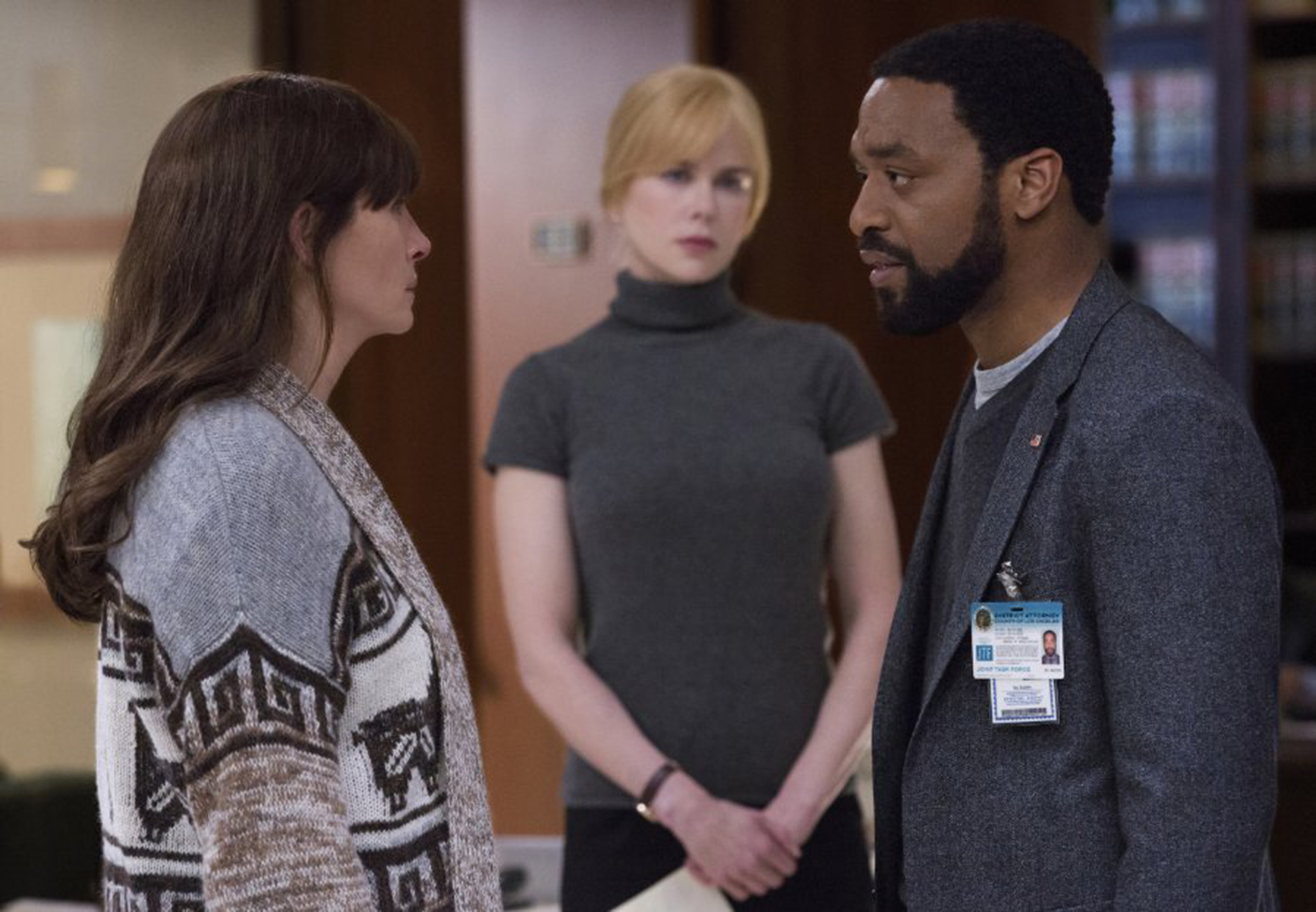 "From left, Julia Roberts, Nicole Kidman and Chiwetel Ejiofor star in ""Secret in Their Eyes."""