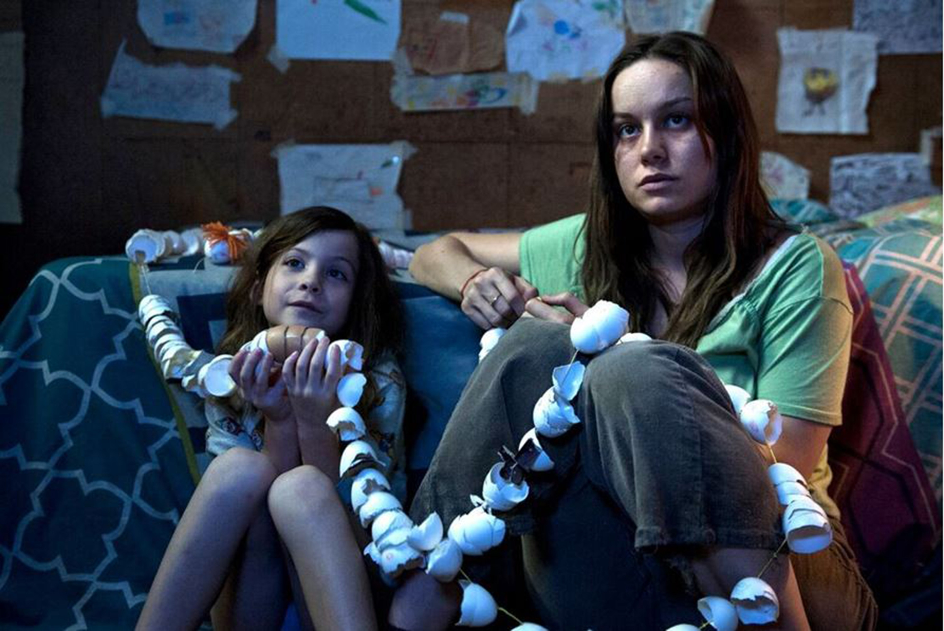 "Jacob Tremblay, left, and Brie Larson play Jack and Ma in ""Room."""