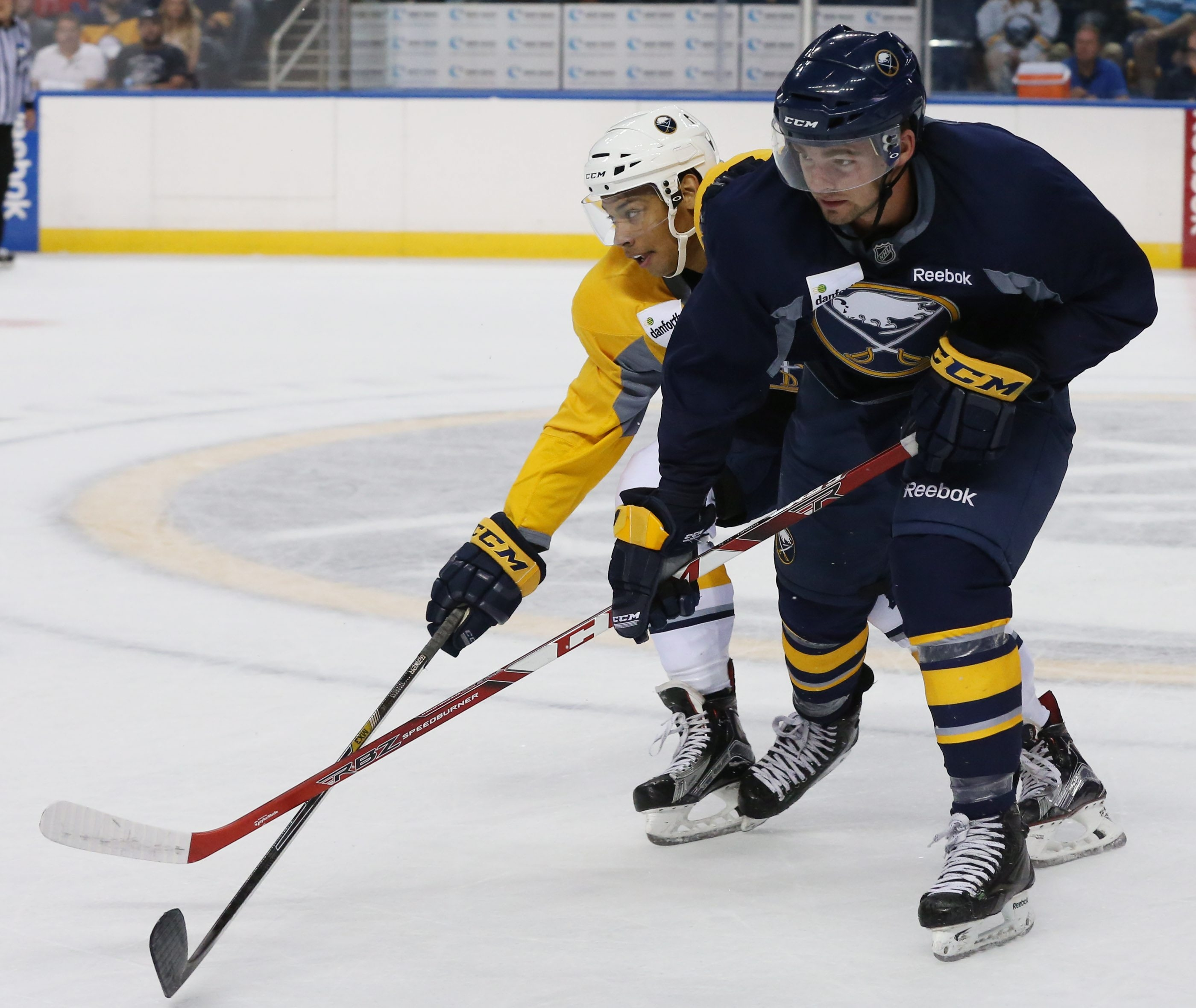 Eric Cornel skates in the first period during the Sabres Blue and Gold Scrimmage at First Niagara Center in Buffalo on July 10, 2015.