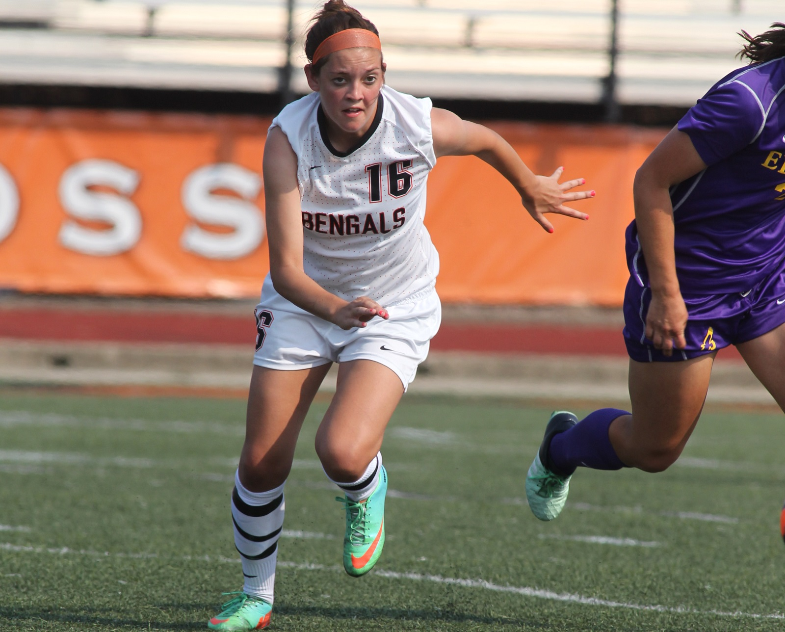 Senior striker Melissa Smith played under Buffalo State head coach Nick DeMarsh for four years at local club Black Watch. (Buffalo State Athletics)