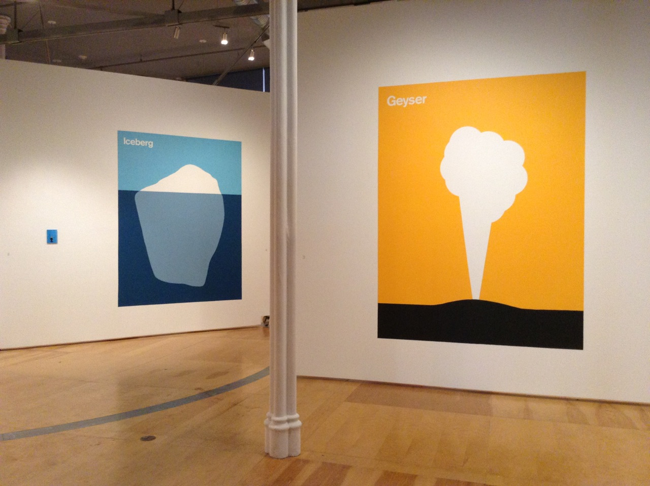 Julian Montague's large-scale wall pieces, 'Iceberg' and 'Geyser' are on view in Hallwalls Contemporary Arts Center's 'Amid/In Western New York Part 5.'