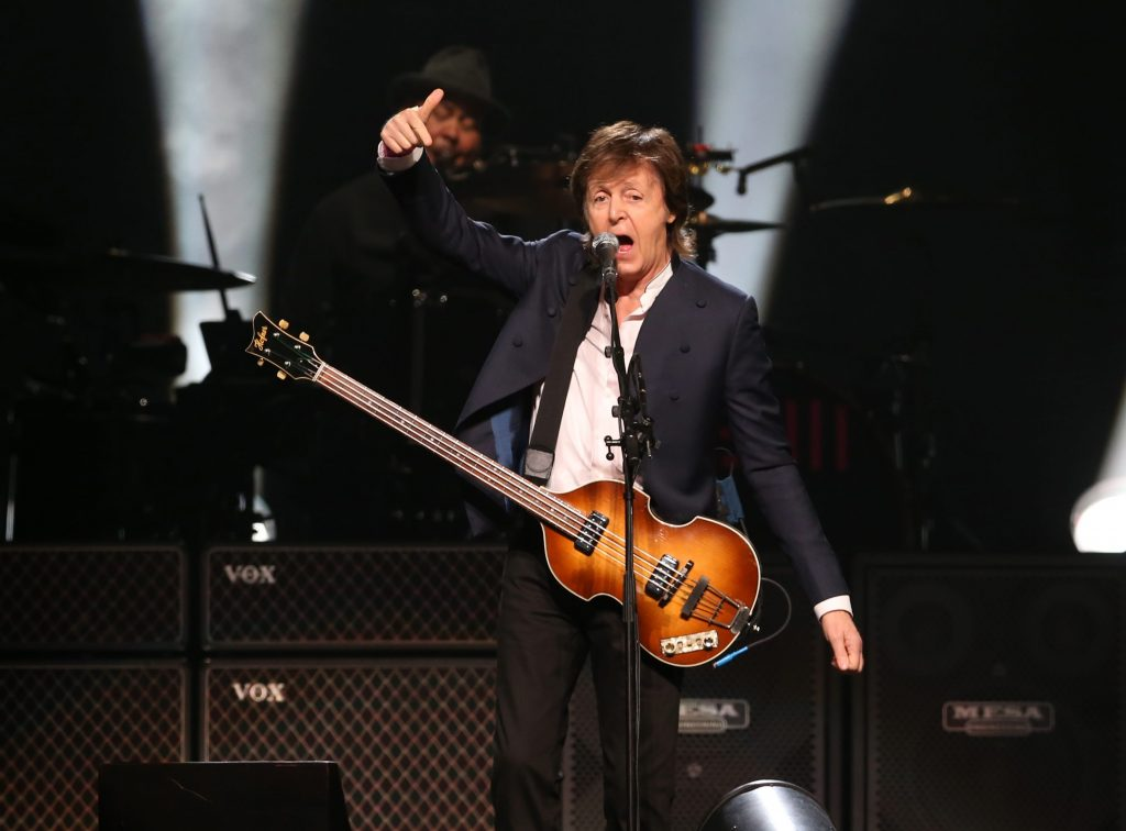 Paul McCartney performs at the last stop on his tour to a sold out crowd at First Niagara Center in Buffalo, Thursday, Oct. 22, 2015. (Sharon Cantillon/Buffalo News)