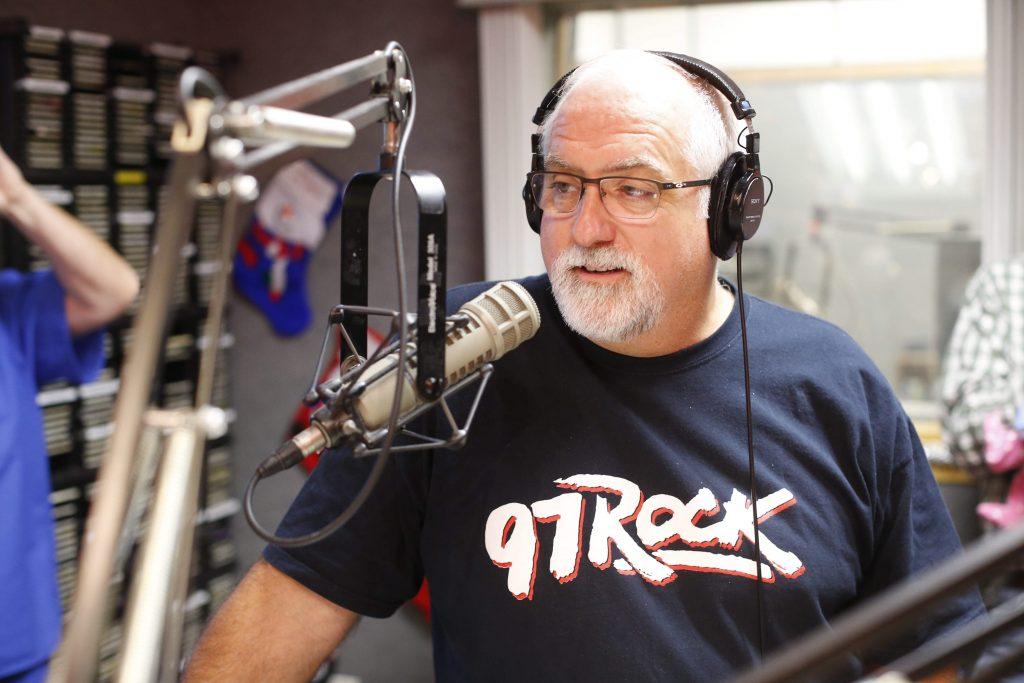 Legendary disc jockey Larry Norton does his final show at 97 Rock before retiring, Friday, Dec. 4, 2015. (Derek Gee/Buffalo News)