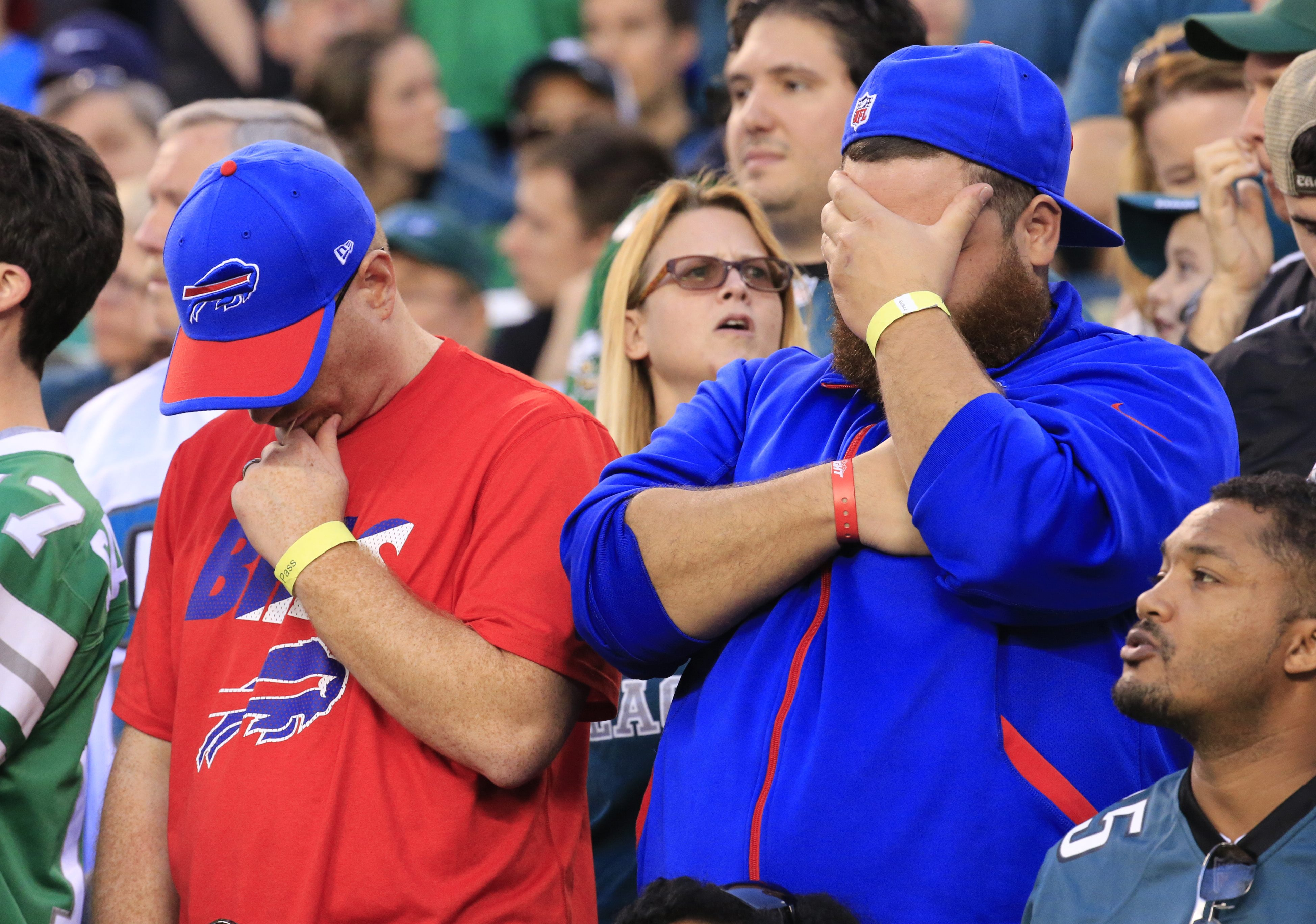 Buffalo Bills fans during the closing minutes at Philadephia's Lincoln Financial Field. (Harry Scull Jr./Buffalo News)