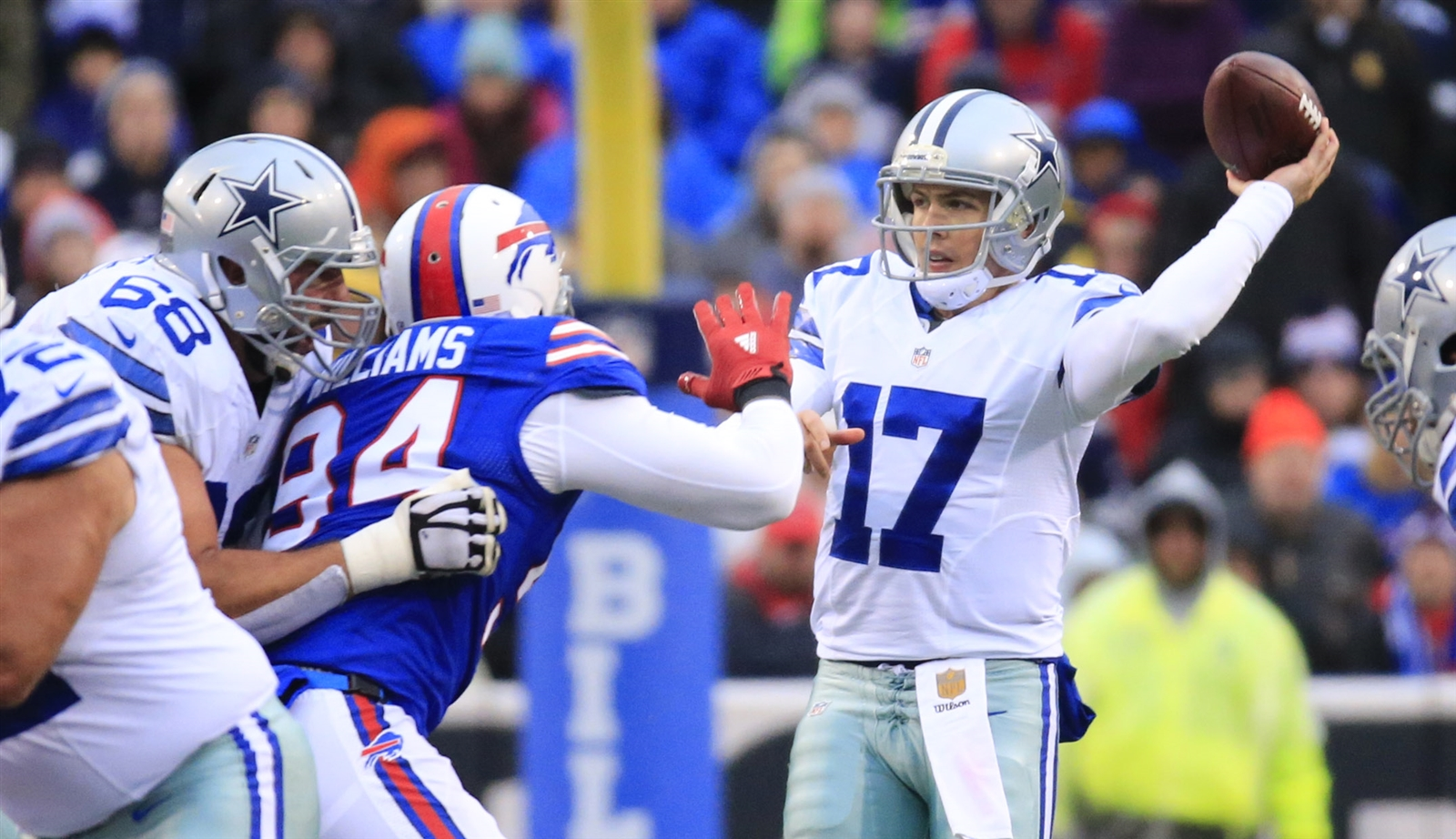 Kellen Moore, promoted from the practice squad three weeks ago, played like a quarterback who was on a practice squad three weeks ago. (Harry Scull Jr./Buffalo News)
