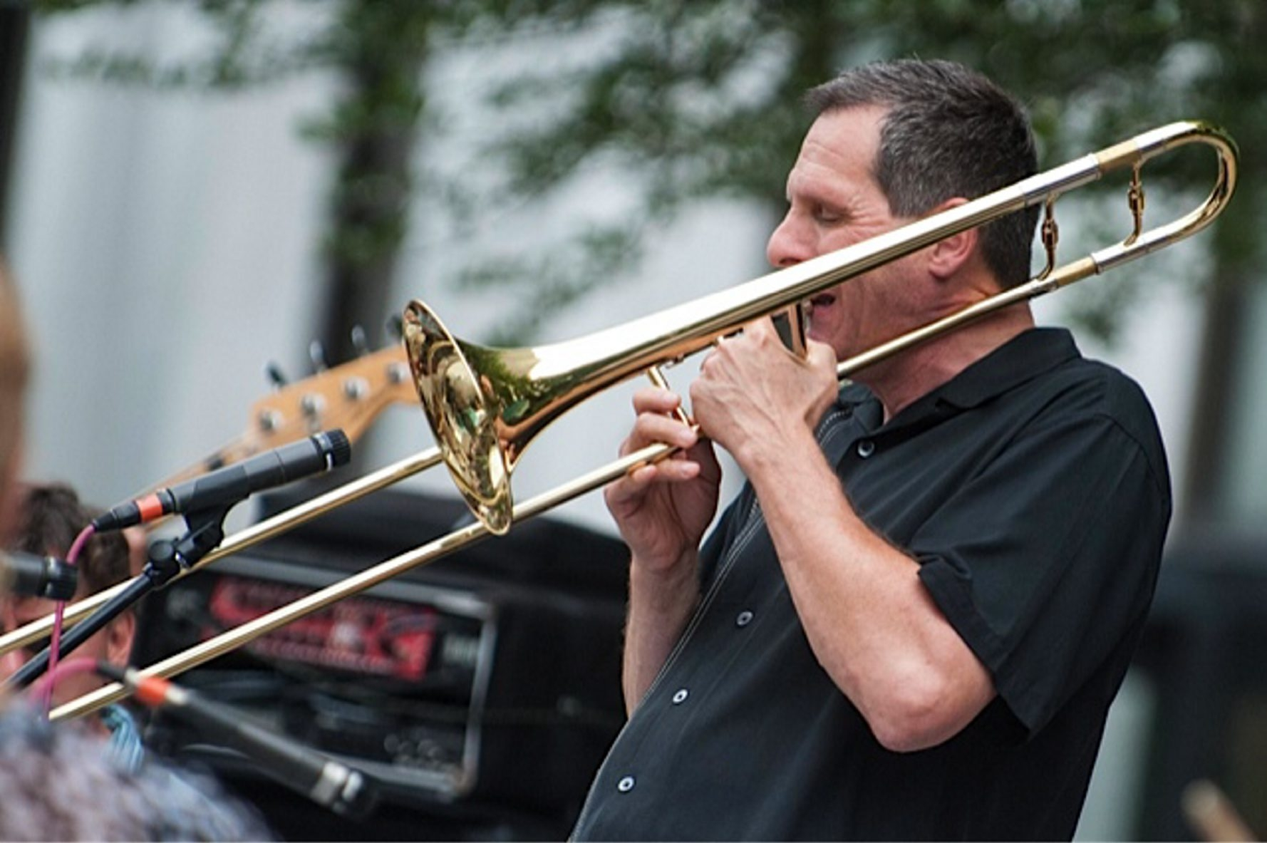 "Trombonist Phil Sims will perform in ""A Big Band Christmas"" Dec. 12 and 13 in the MusicalFare Theatre cabaret space."