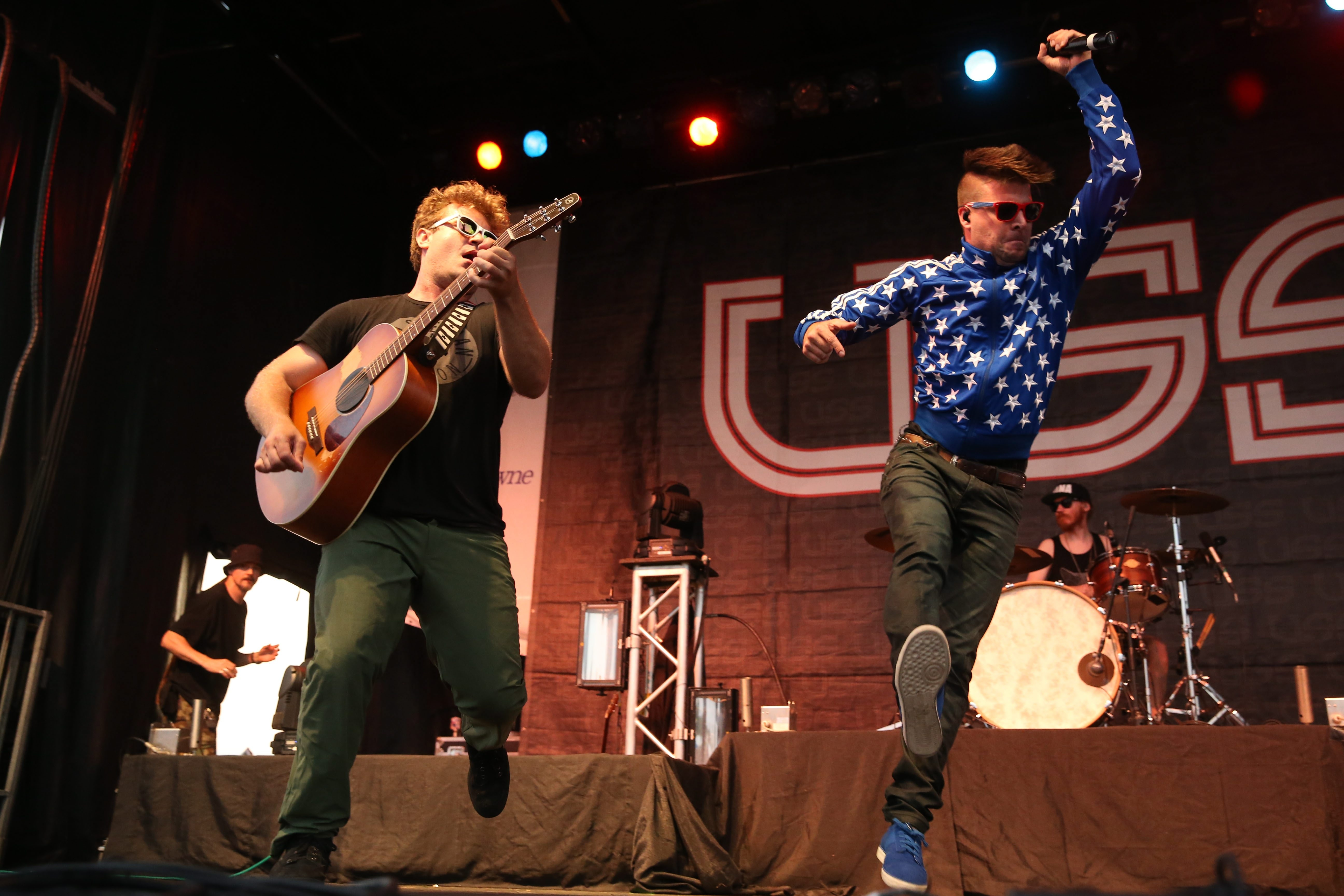 The high-energy duo USS returns for a show at Rapids Theatre. (Sharon Cantillon/file photo)