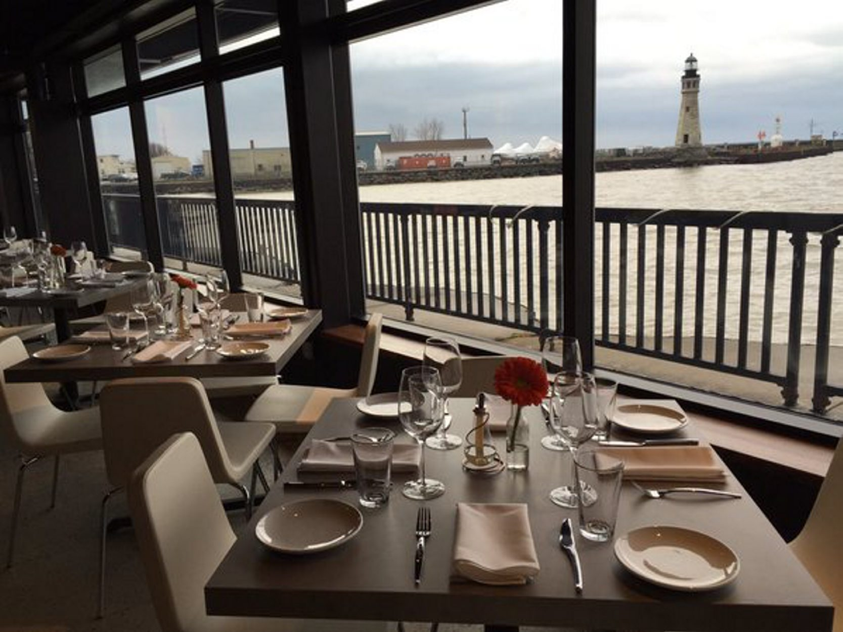 The view from William K's, the new year-round restaurant opening New Year's Eve day at the Erie Basin Marina. (Derek Gee/Buffalo News)