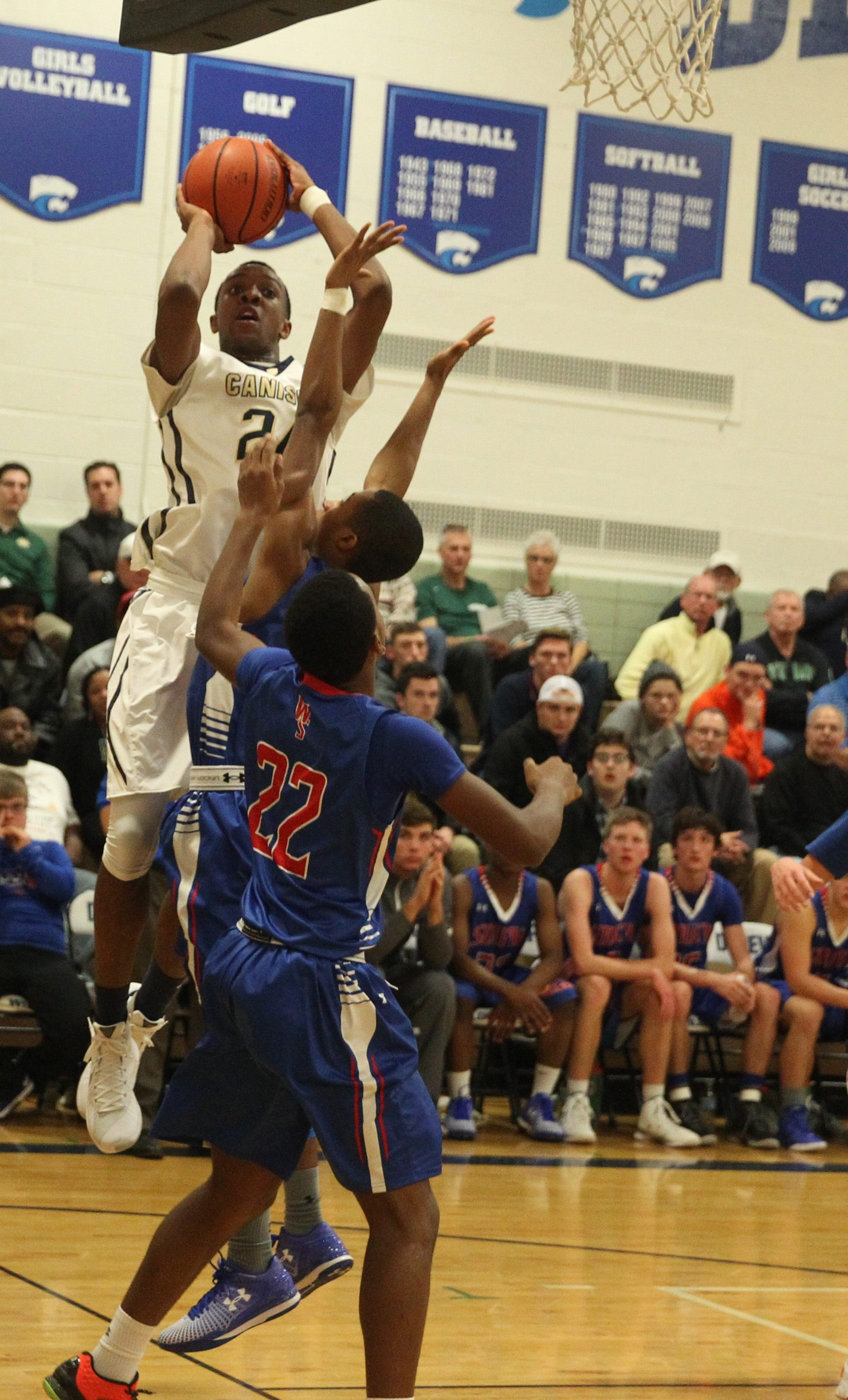 Canisius's Stafford Trueheart (24) and the rest of the Crusaders will be playing in New York City this week.
