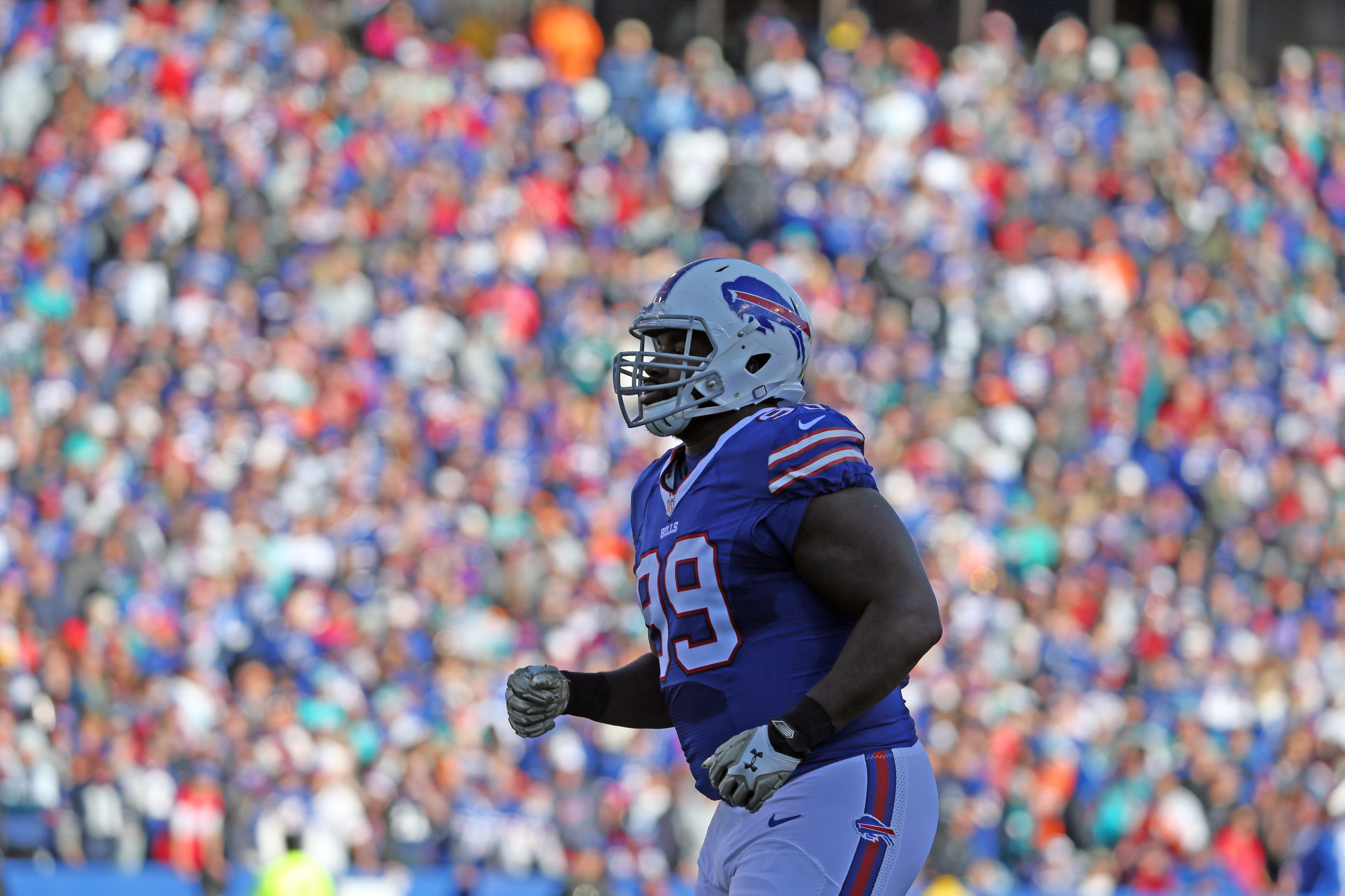 Buffalo Bills defensive tackle Marcell Dareus (99) in the second quarter at Ralph Wilson Stadium in Orchard Park, NY on Sunday, Nov. 8, 2015.  (James P. McCoy/ Buffalo News)