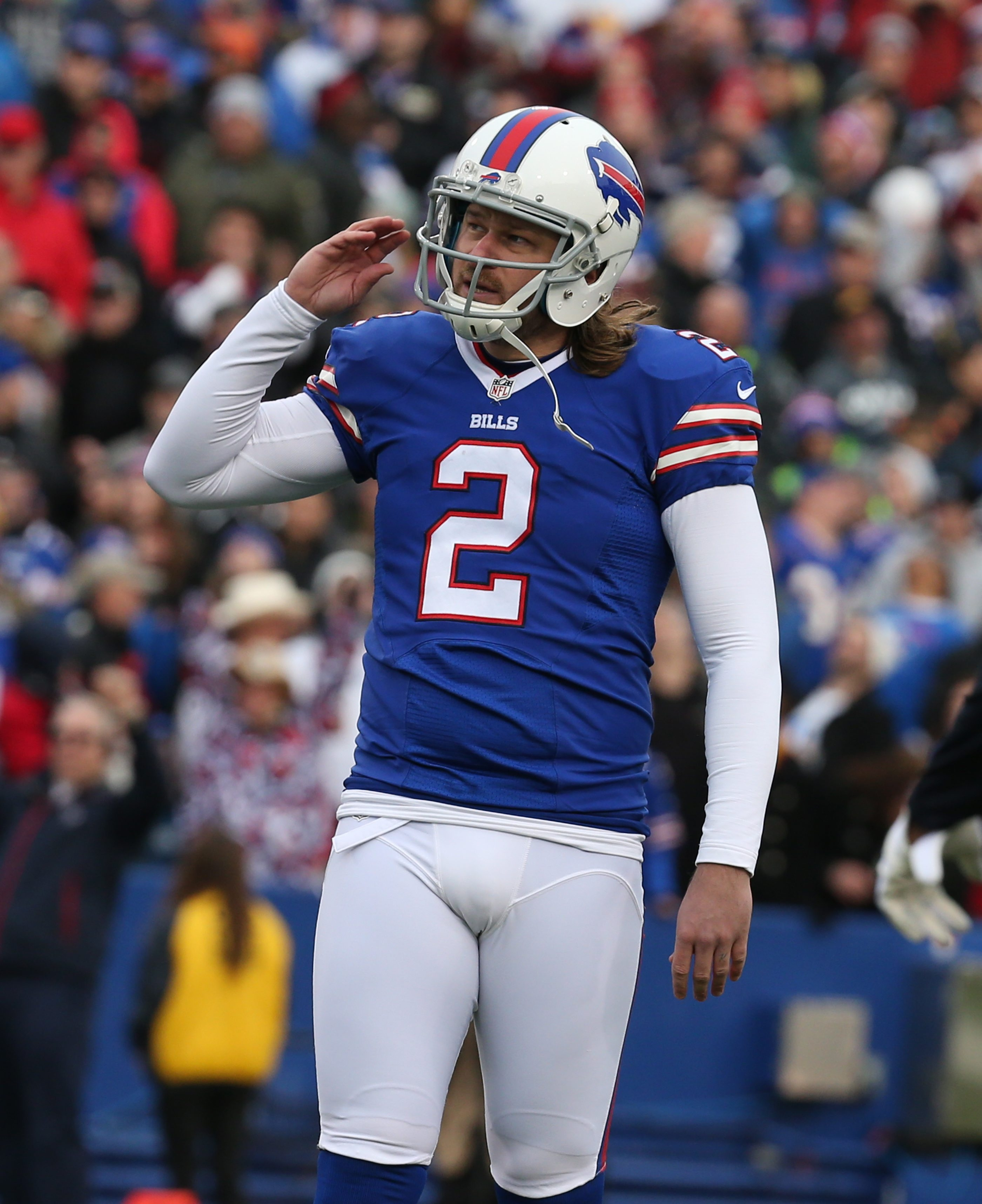 Bills kicker Dan Carpenter missed a field goal during the third quarter at Ralph Wilson Stadium on Sunday.