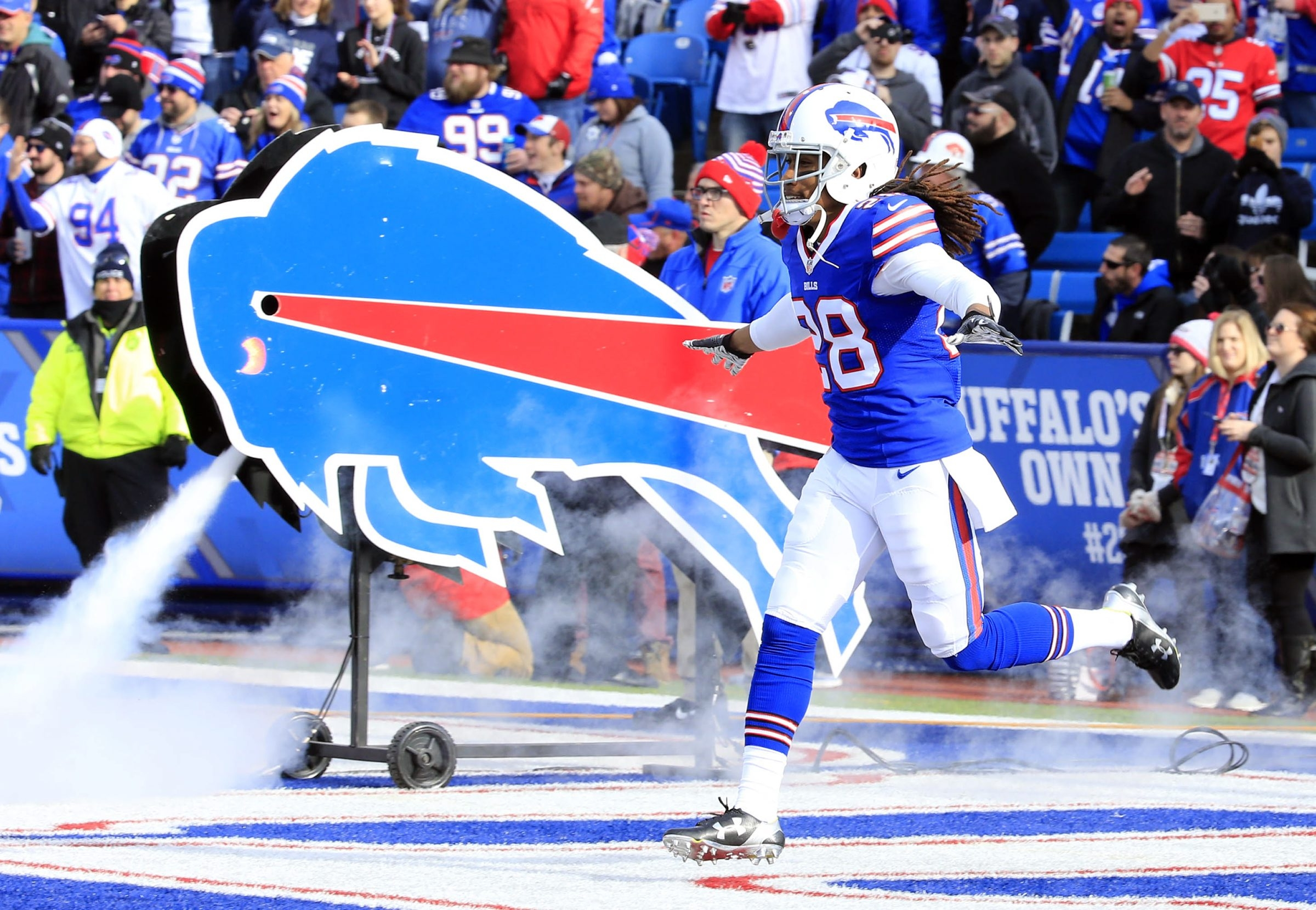 Bills cornerback Ronald Darby arrived with a flourish in his rookie season. (Harry Scull Jr./Buffalo News)