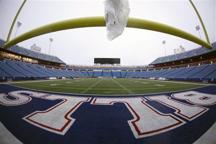 Don't bother reading about what happened on this field today. (Harry Scull Jr./Buffalo News)