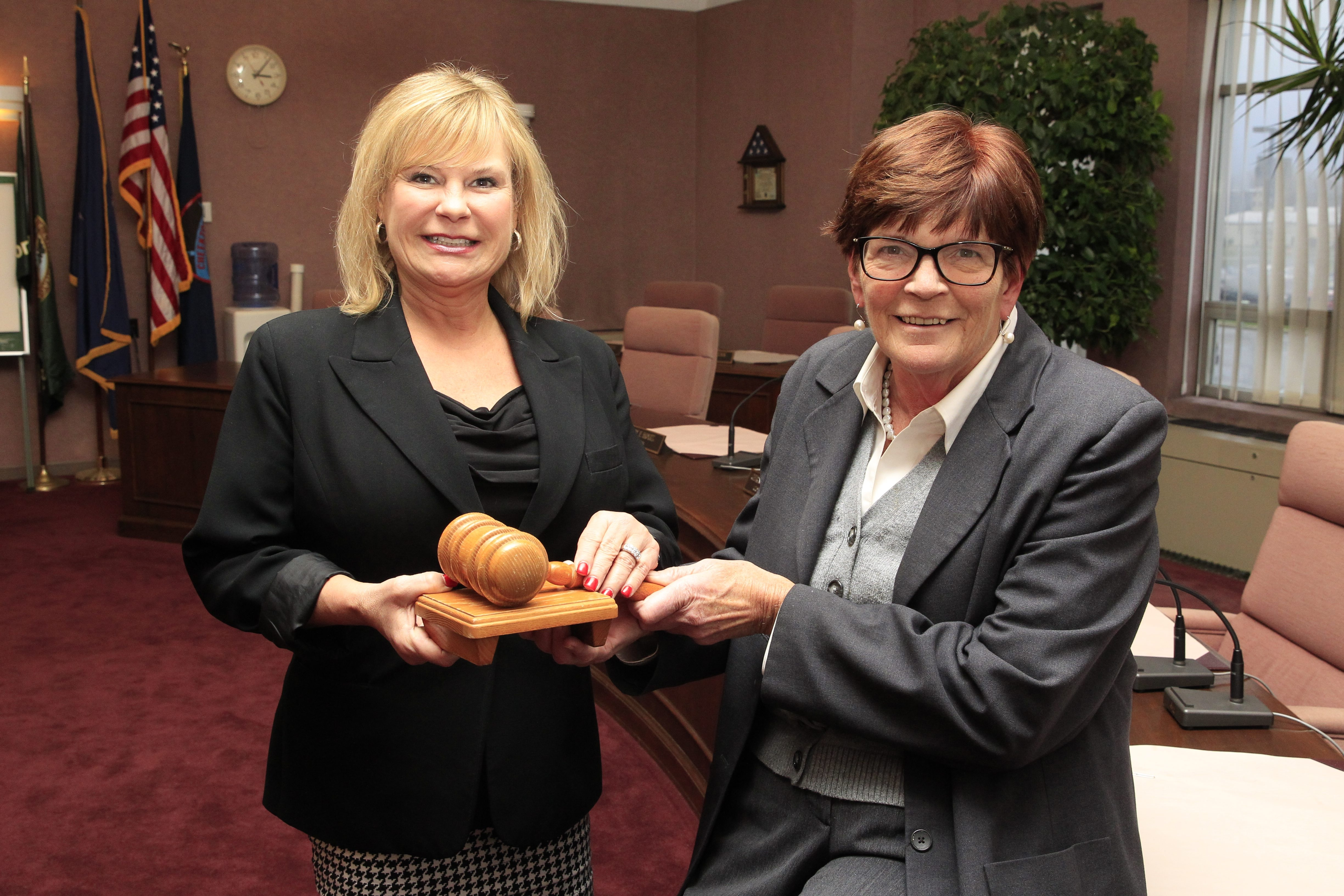 Diane M. Benczkowski, left, who will take over the Cheektowaga supervisor post from Mary F. Holtz on Friday, says she is ready to face the challenges the position presents.